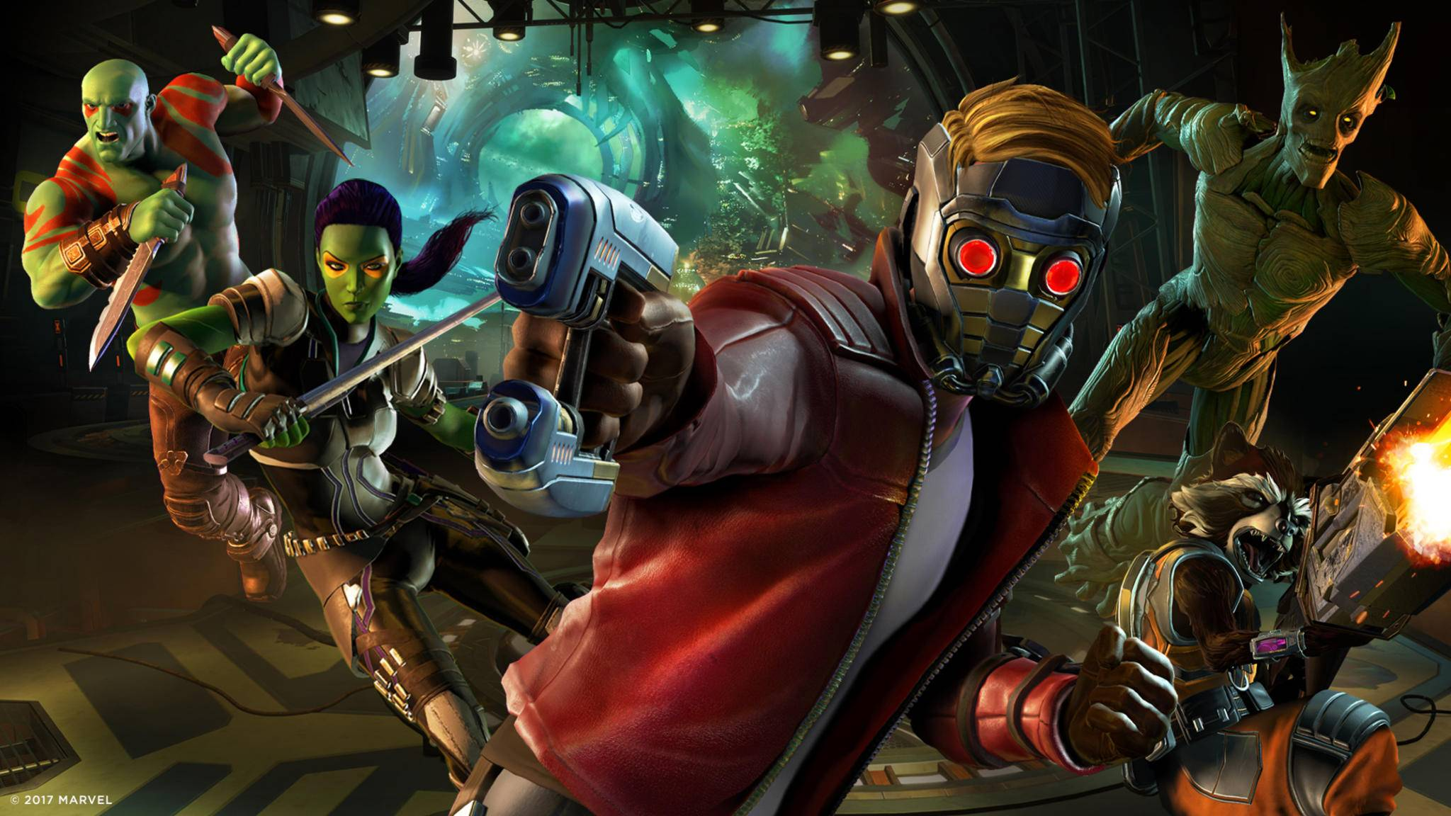 Auf geht's: Die Guardians of the Galaxy im Telltale Adventure.