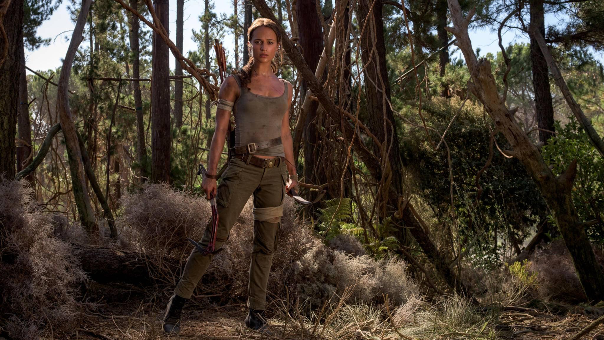 Sie sieht nur tough aus: Alicia Vikanders Lara Croft hat noch viel zu lernen.