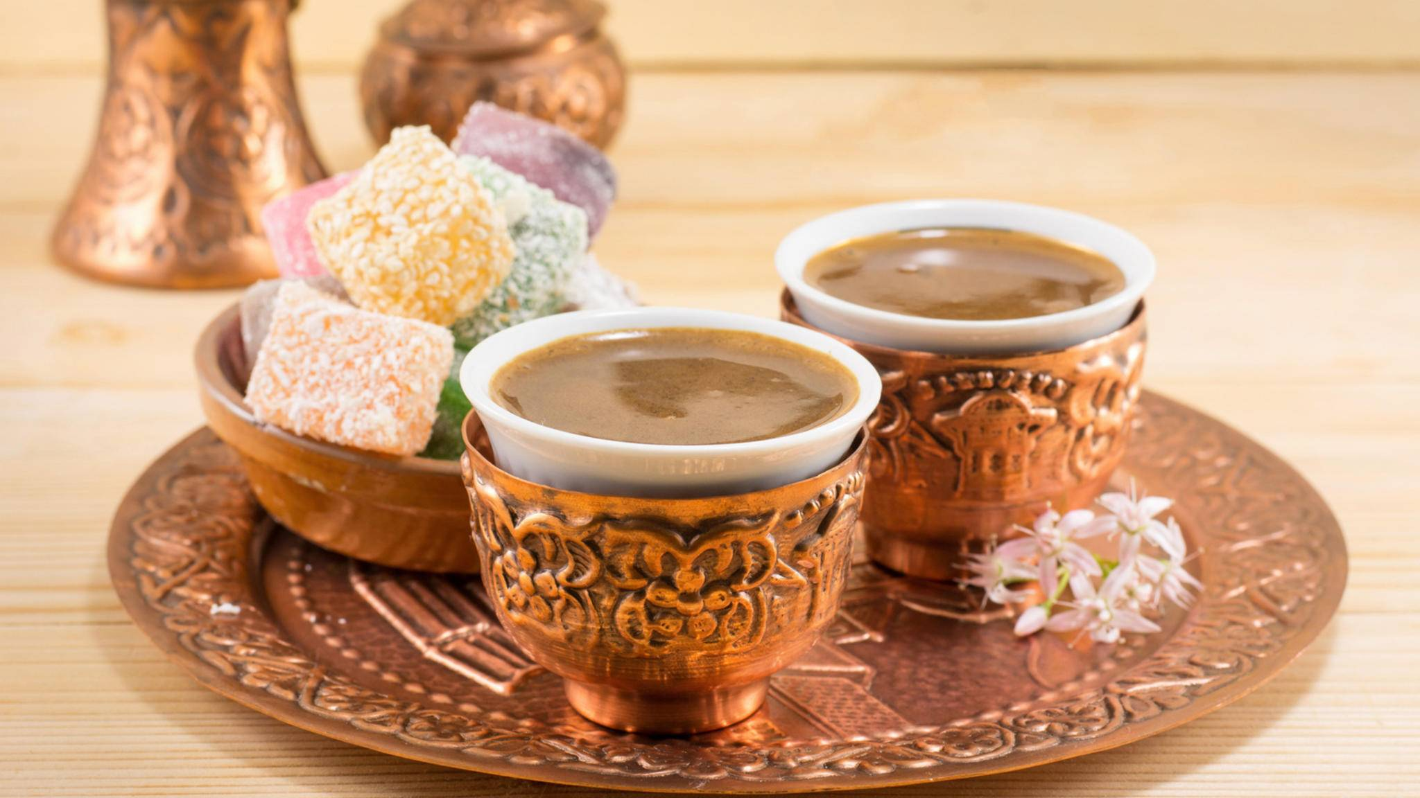 Türkischer Kaffee ist aufgrund seiner fein süßen Note und der cremigen Konsistenz sehr beliebt.