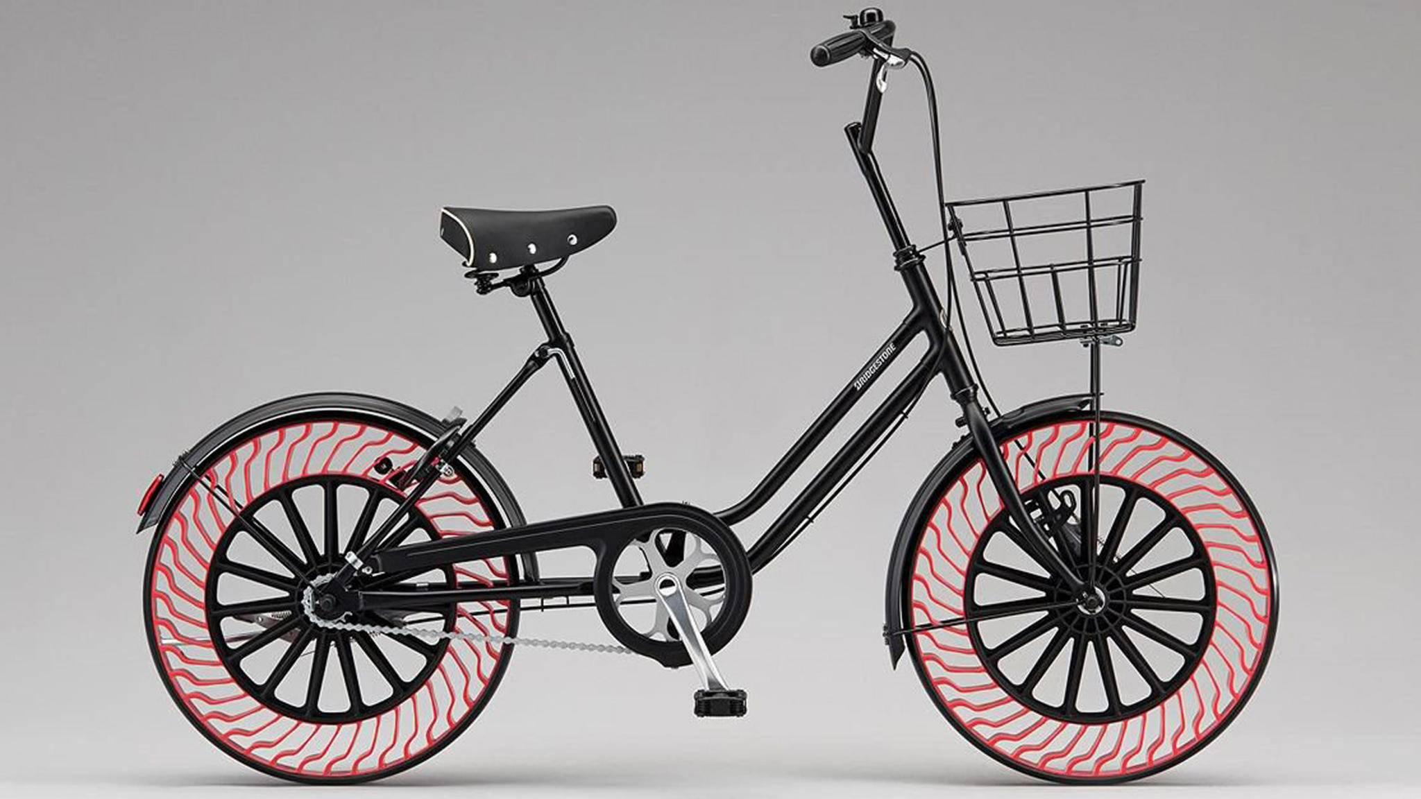 Bridgestone bringt luftlose Reifen für Fahrräder auf den Markt.