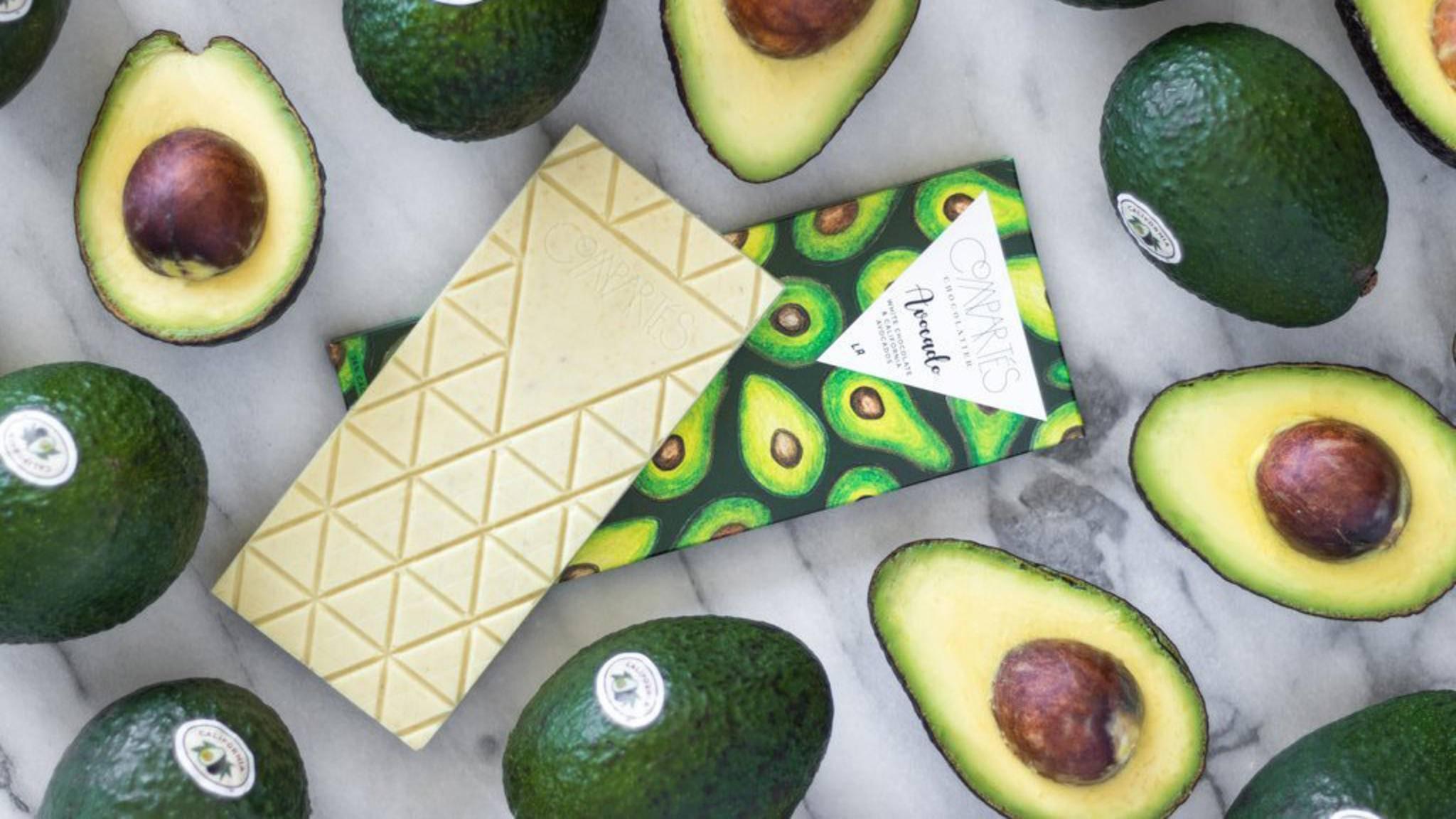 Fast zu schön zum Essen: die Avocado-Schokolade.