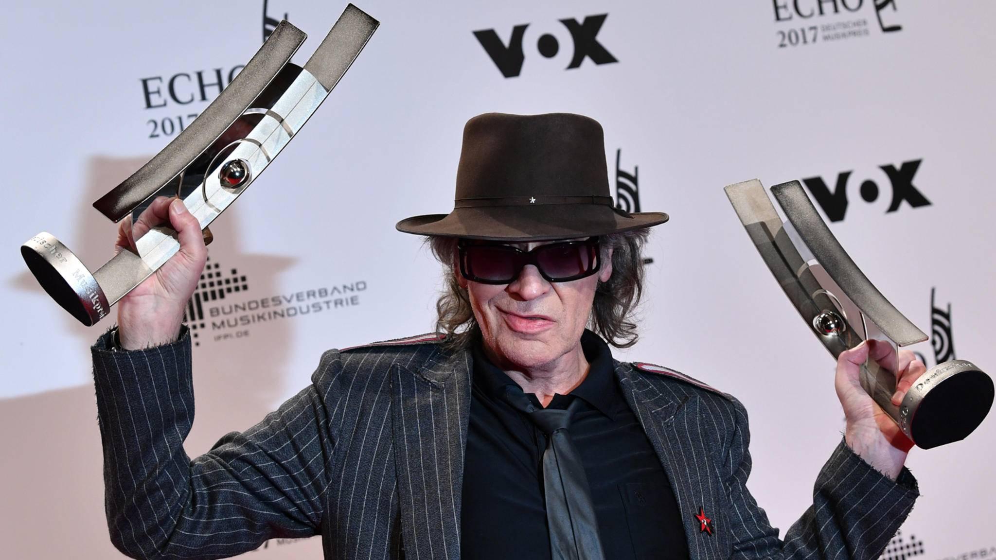 Udo Lindenberg wurde beim Echo 2017 mit zwei Preisen ausgezeichnet.