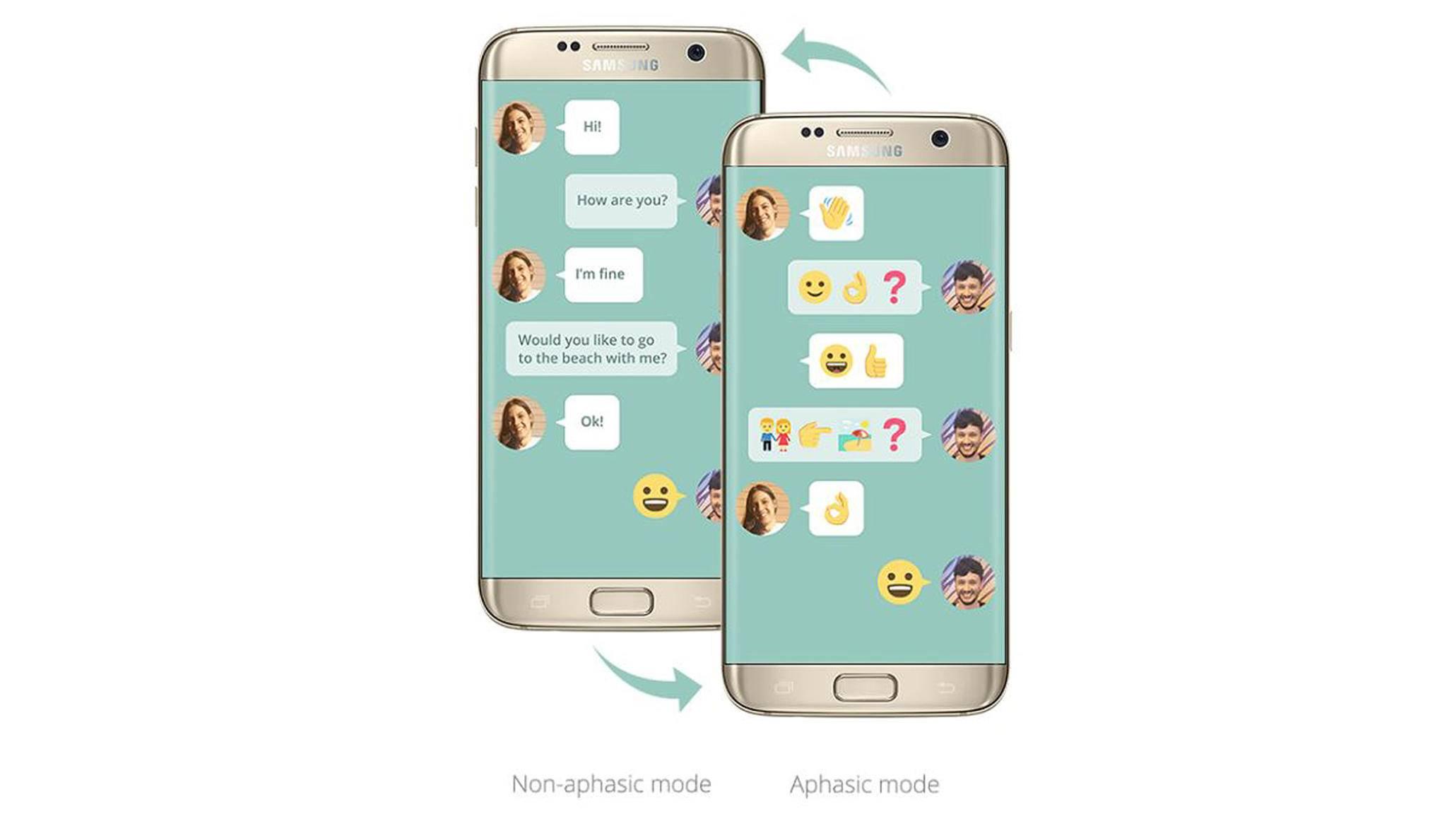 Die neue Samsung-App Wemogee soll Aphasie-Patienten wieder eine Stimme geben.