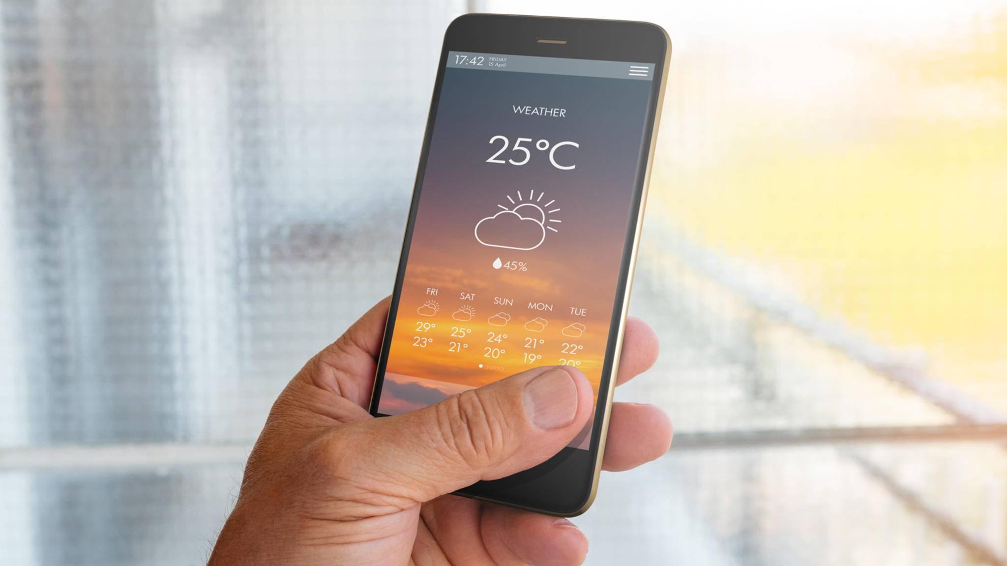 Wetter-App Smartphone