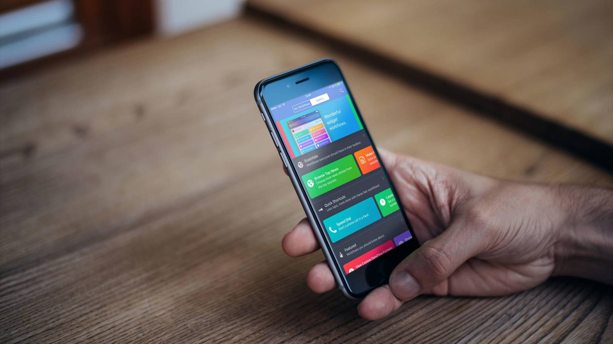 Mithilfe der Workflow-App kannst Du bestimmte Abläufe automatisieren.