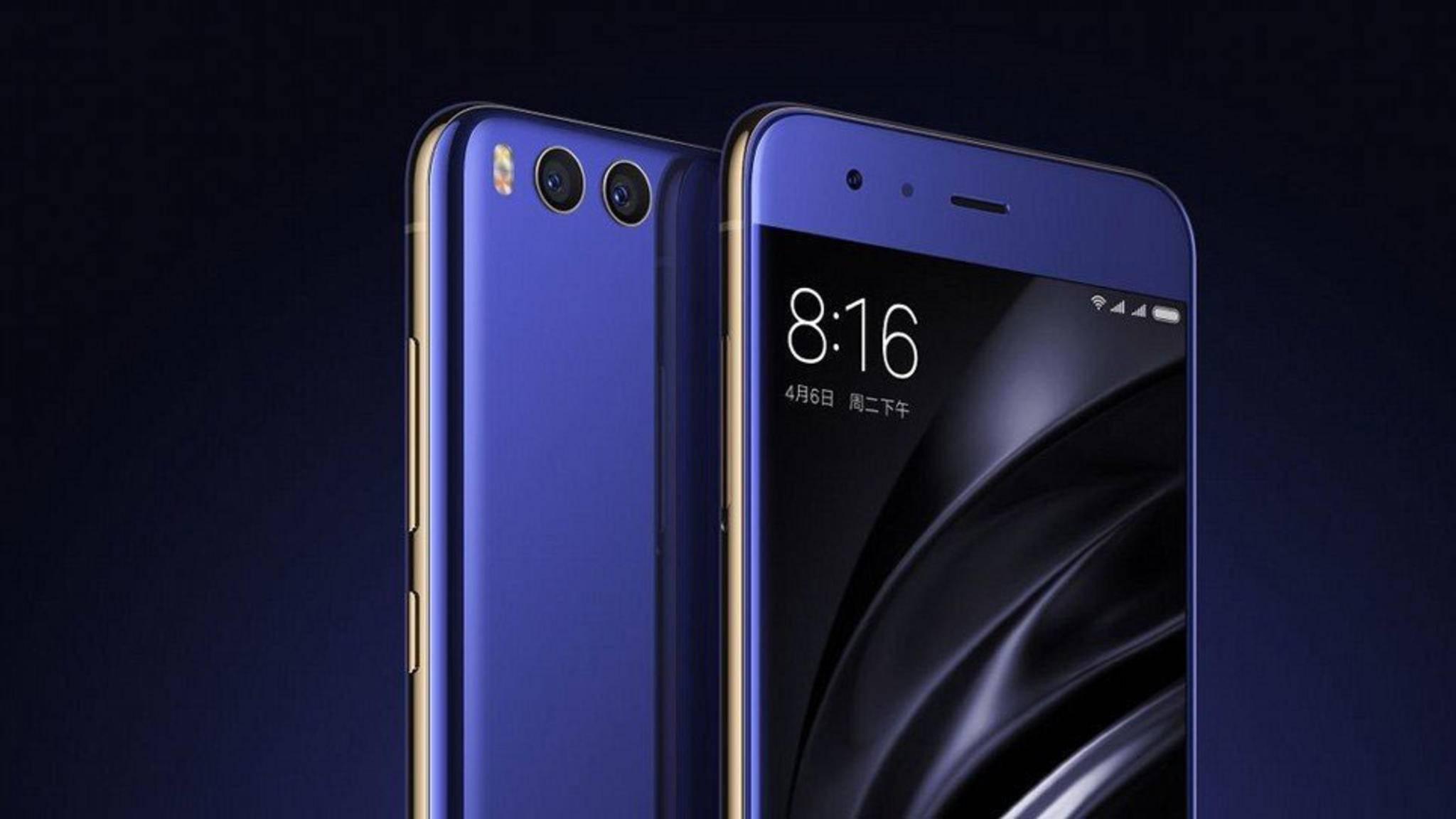 Abgerundete Ecken, edler Metallrahmen und 5,15-Zoll-Bildschirm: Xiaomi hat sein neues Top-Modell Mi 6 enthüllt.
