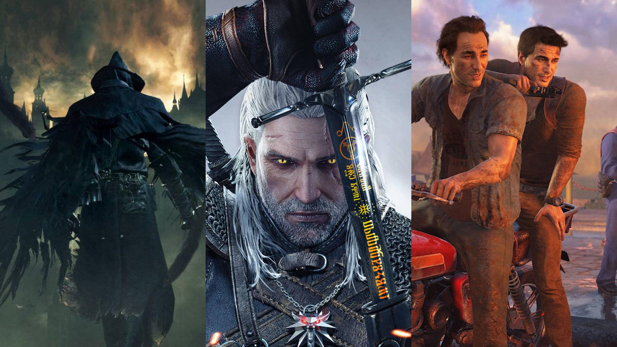 bloodborne-witcher-3-uncharted-4-collage-ps4