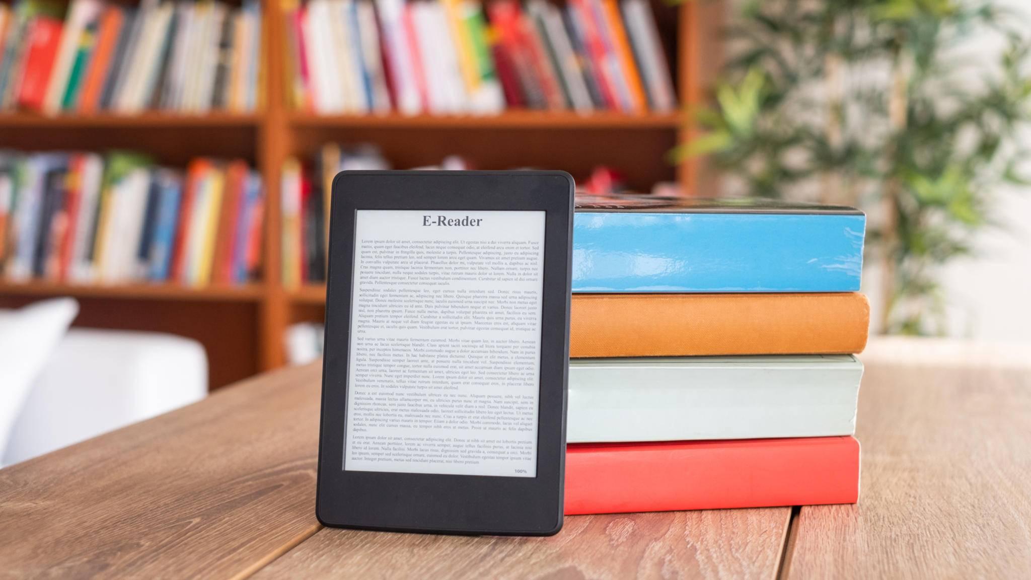 e-book tisch bibliothek bücherei