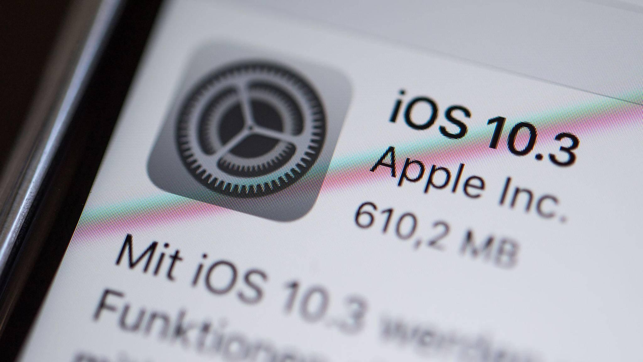 iOS 10.3 bringt nicht nicht nur neue Features aufs iPhone, sondern schaltet bei einigen Nutzern versehentlich ursprünglich deaktivierte iCloud-Dienste ein.