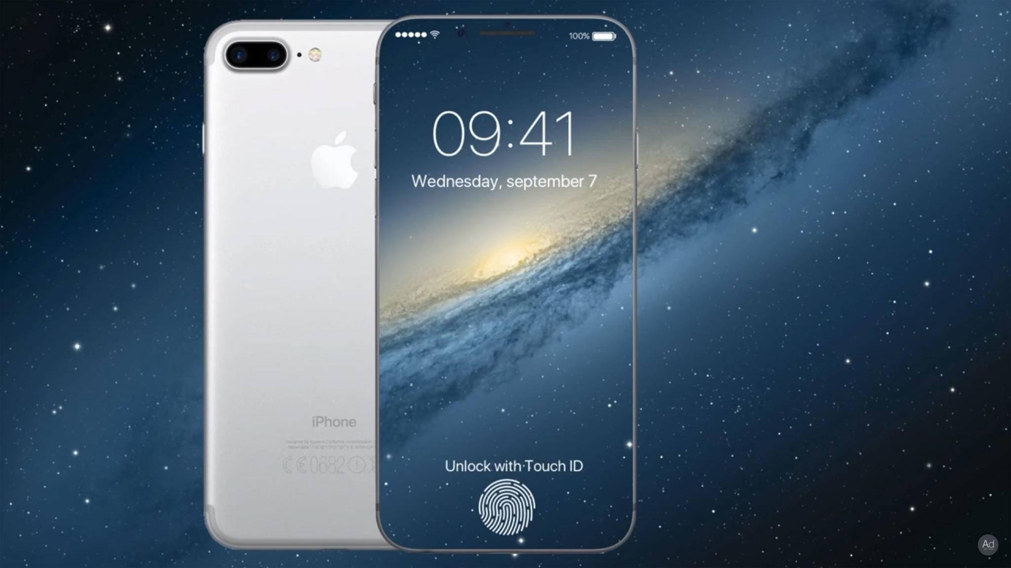 Ein iPhone 8 ohne Touch ID? Eine Option, falls Apple die Probleme bei der Integration des Sensors unterhalb des Displays nicht lösen kann.