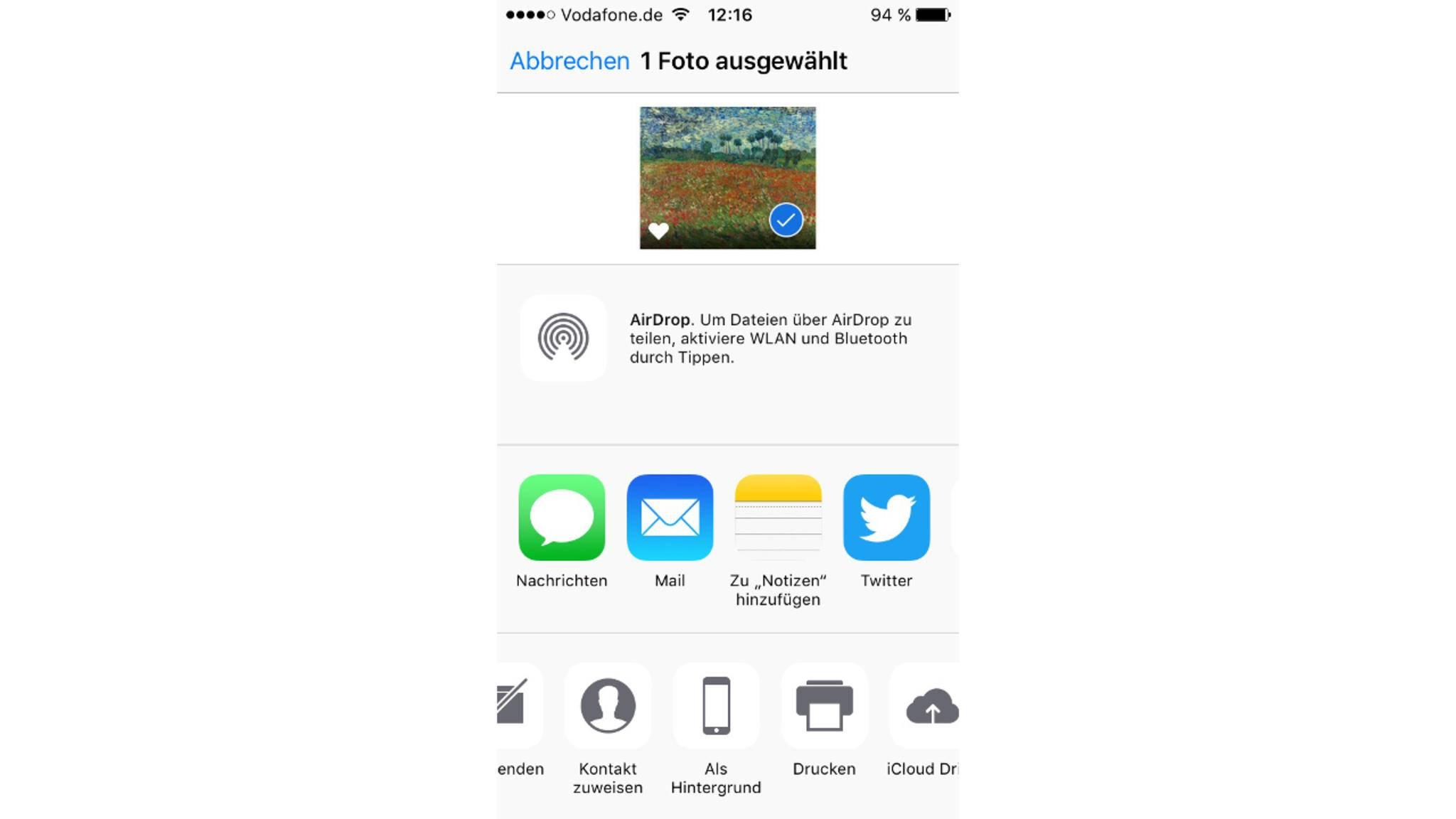 Fast geschafft: Ein Klick trennt nur noch von dem neuen Erscheinungsbild des iPhones.