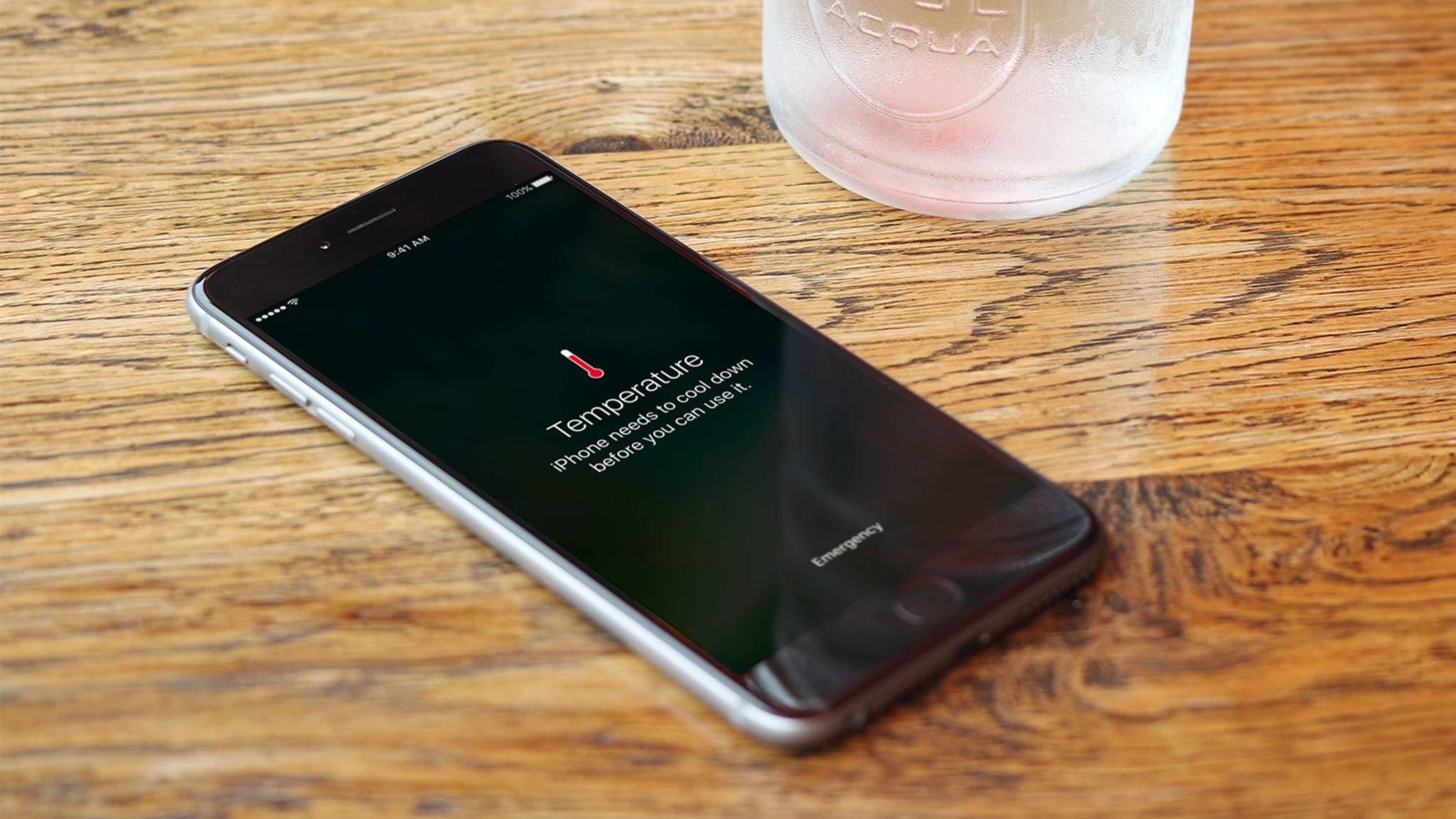 Wenn das iPhone überhitzt, musst Du zur Tat schreiten!