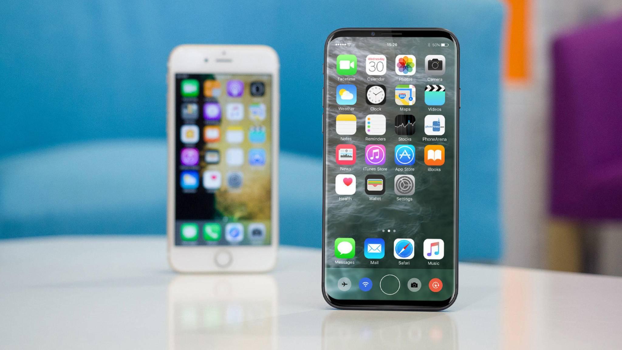 Schutzhüllen für das iPhone 8 sollen bereits hergestellt werden und zeigen, wie groß das Smartphone im Vergleich zum iPhone 7s sein soll.