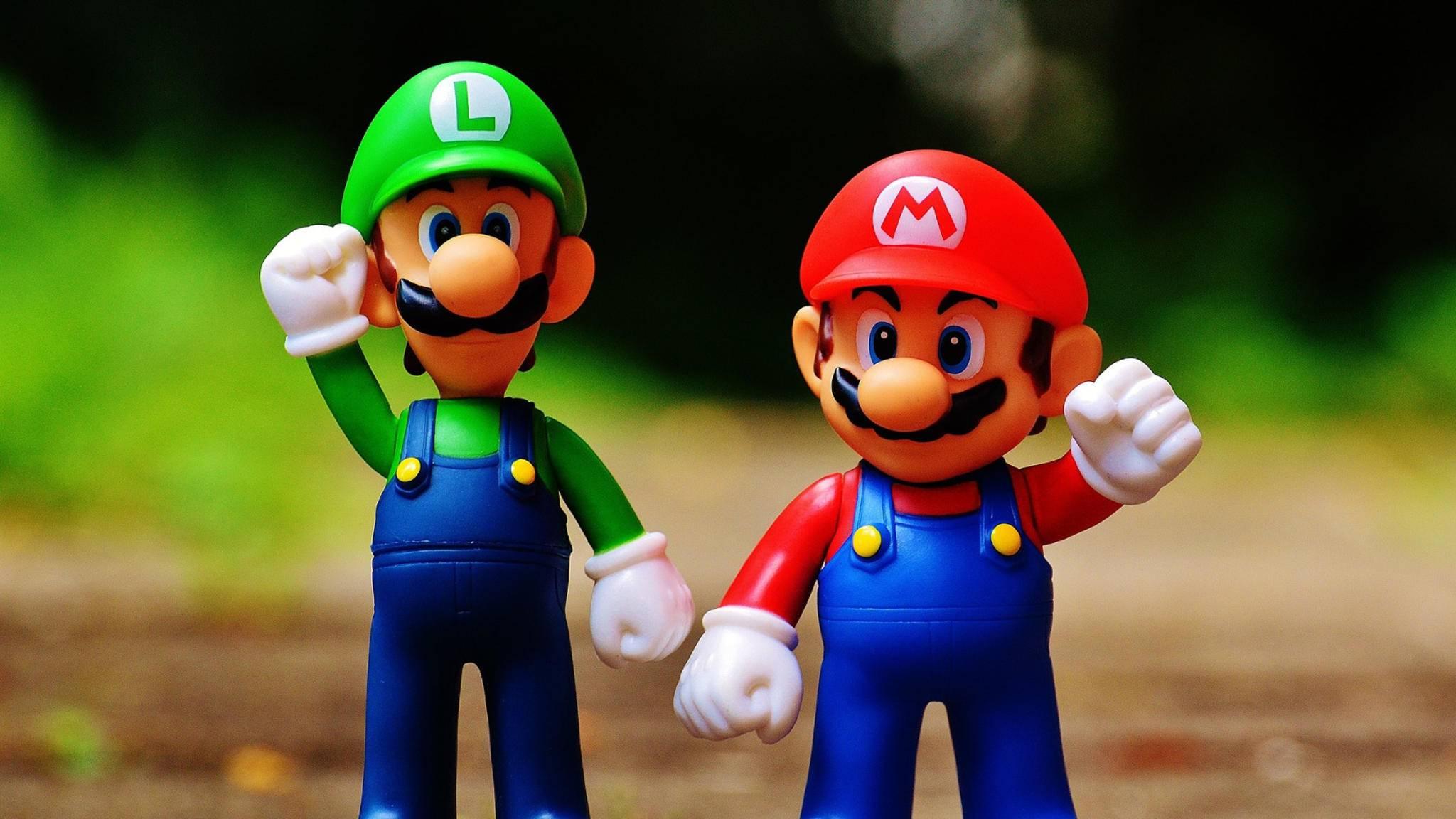 Mario und Luigi verabschieden sich vom Wii-Shop-Kanal.