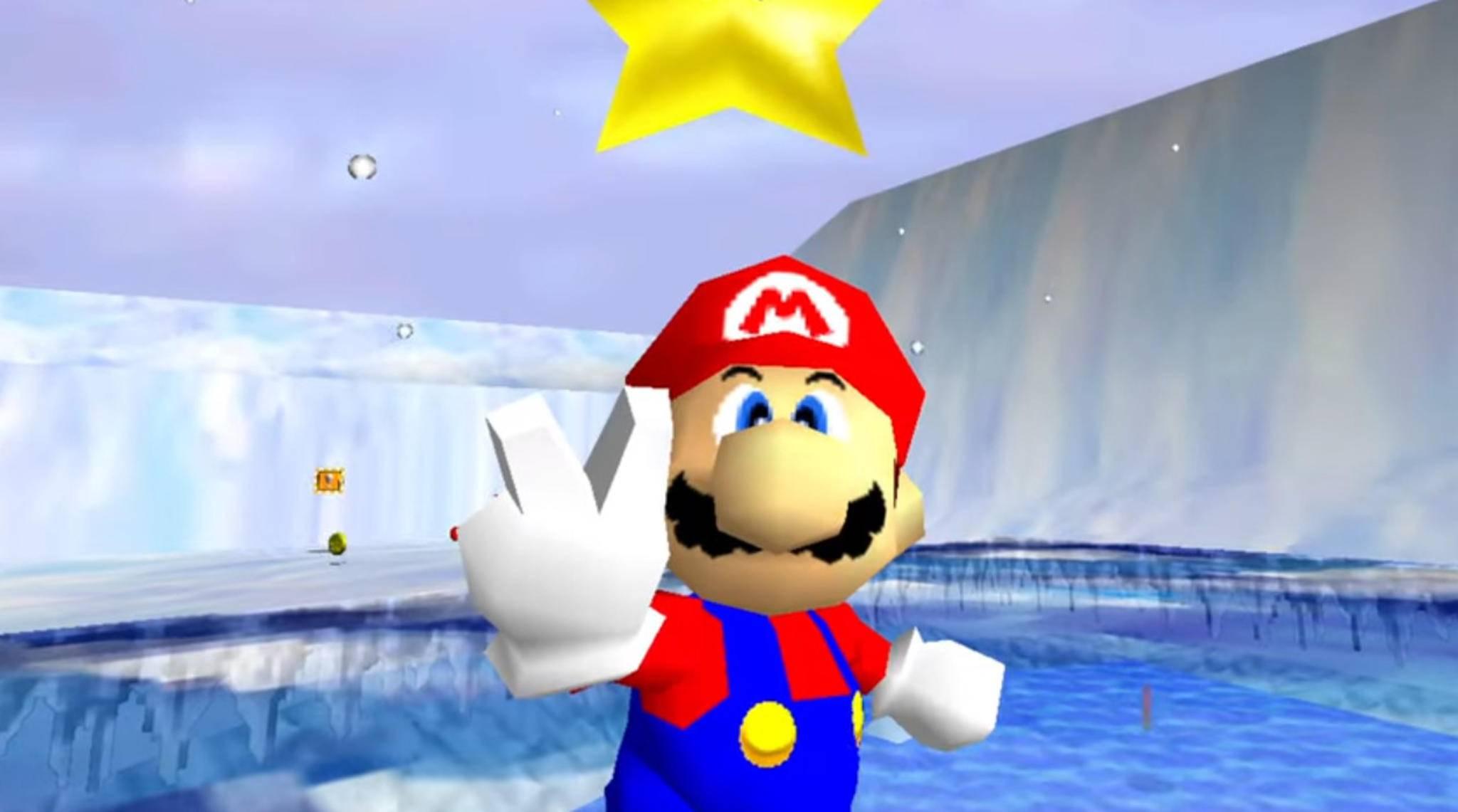 """In """"Super Mario 64"""" ging Mario 1996 erstmals in 3D auf Sternjagd."""