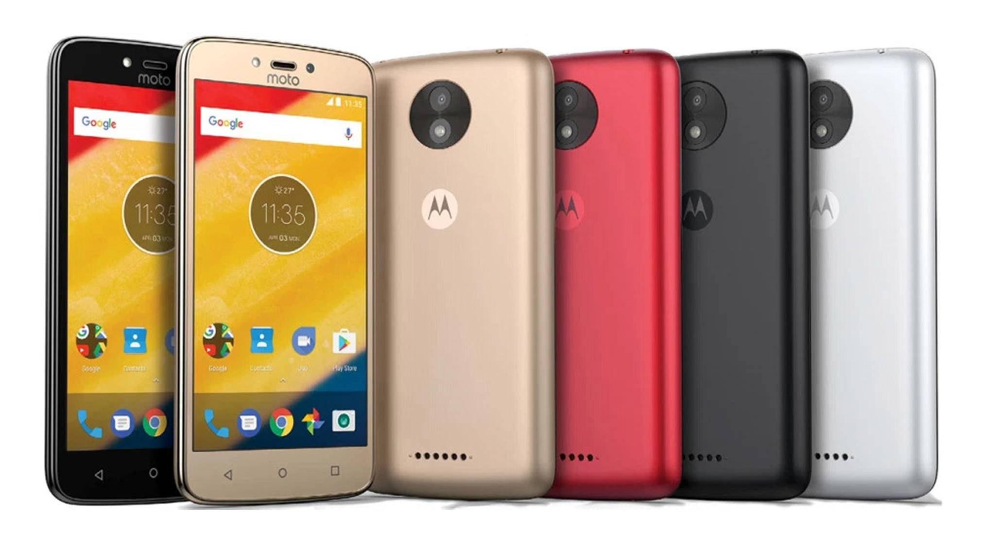 Das Moto C5 wird in verschiedenen Farben auf den Markt kommen.