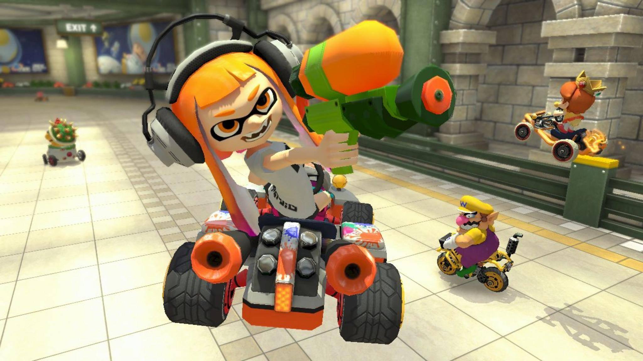 """Das Inkling-Mädchen ist ein neuer spielbarer Charakter in """"Mario Kart 8 Deluxe"""" für die Nintendo Switch."""
