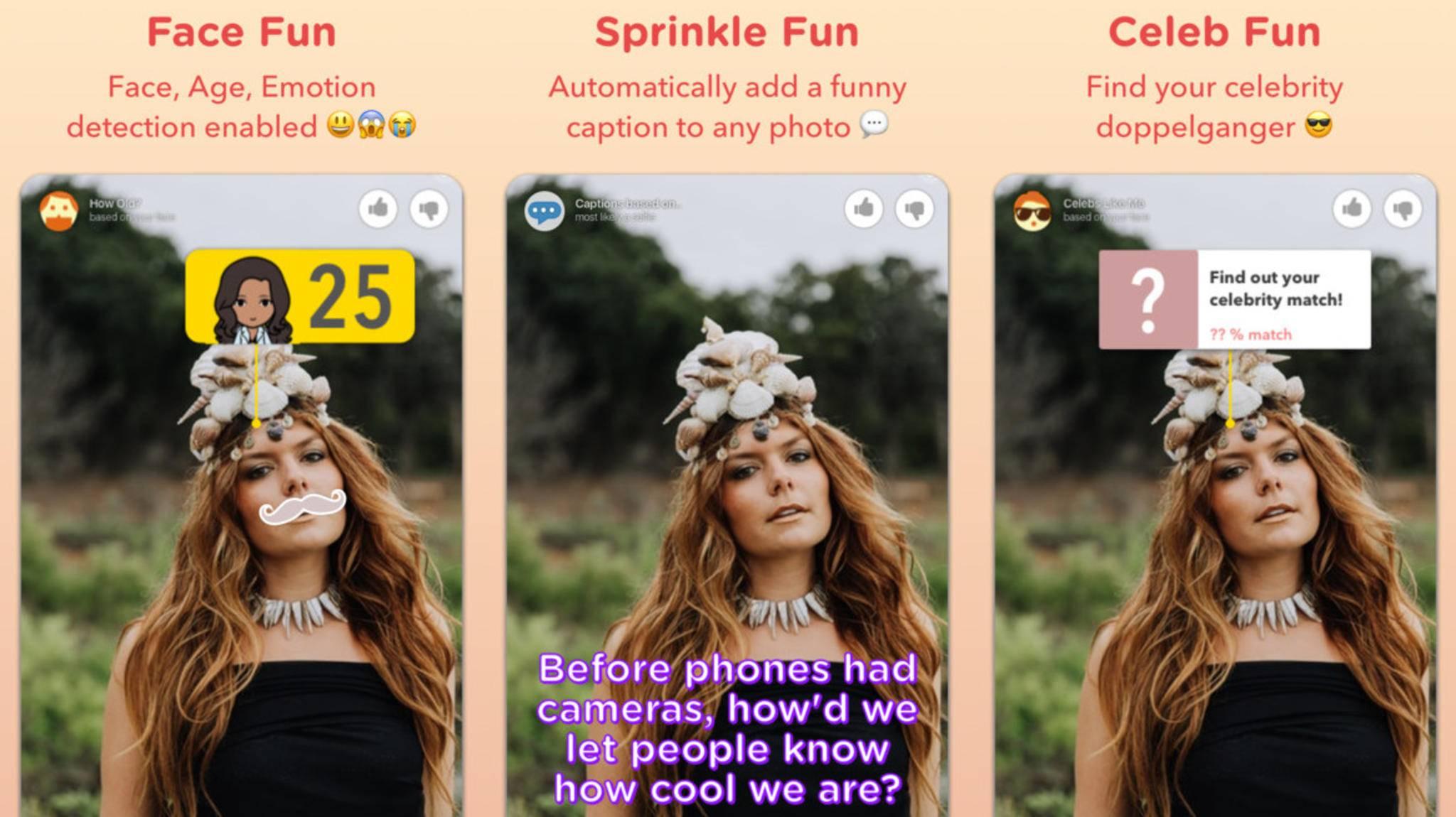 Verzieren, beschriften, vergleichen: Die neue Kamera-App Sprinkles
