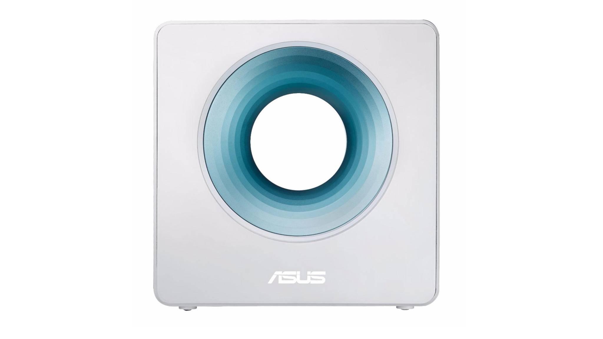 WLAN-Router mit Durchblick: So stylisch sieht der Asus Blue Cave aus.