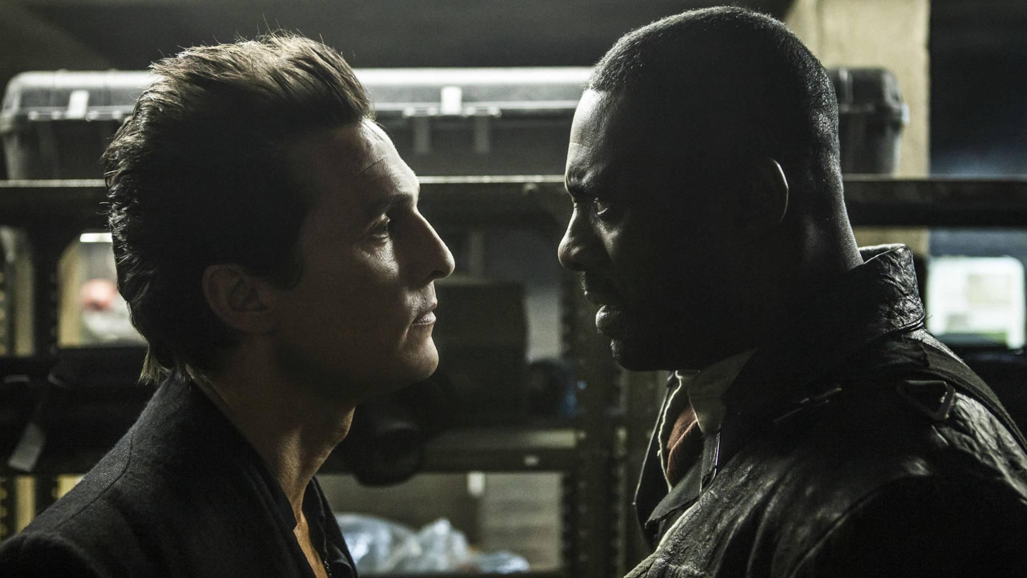Das Aufeinandertreffen von Roland (Idris Elba) und dem Mann in Schwarz (Matthew McConaughey) dürfte spannend werden.