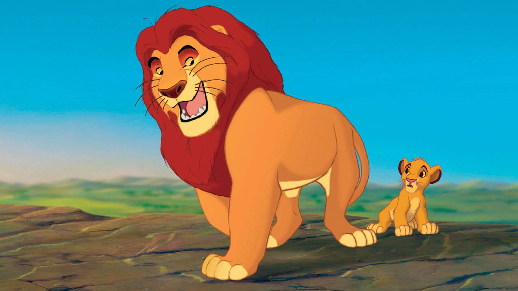 Auch, wenn er nur gezeichnet ist: Mufasa geht locker als einer der perfektesten Filmväter durch.
