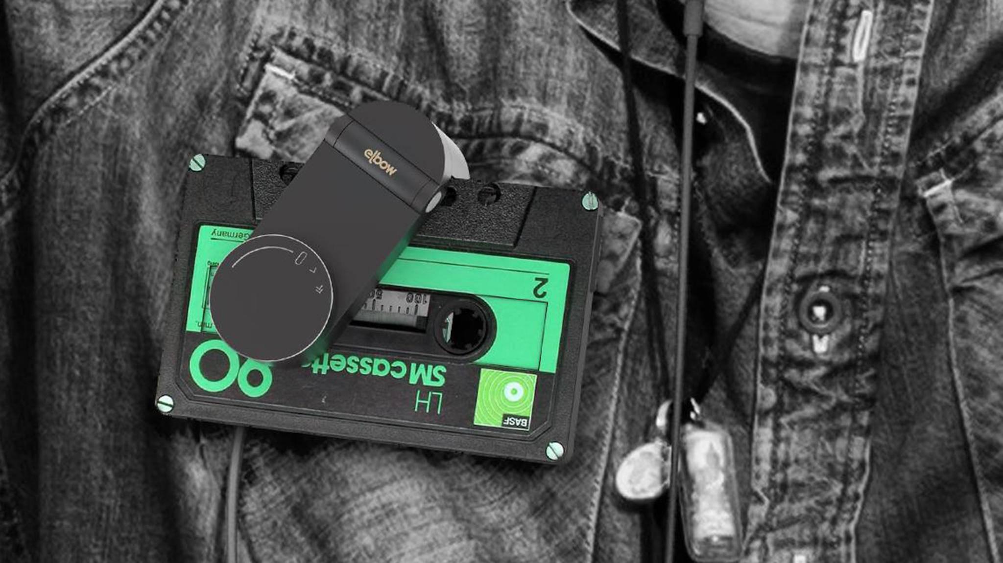 Elbow ist ein dekorativer Kassettenspieler für Fans des Tonbandes.