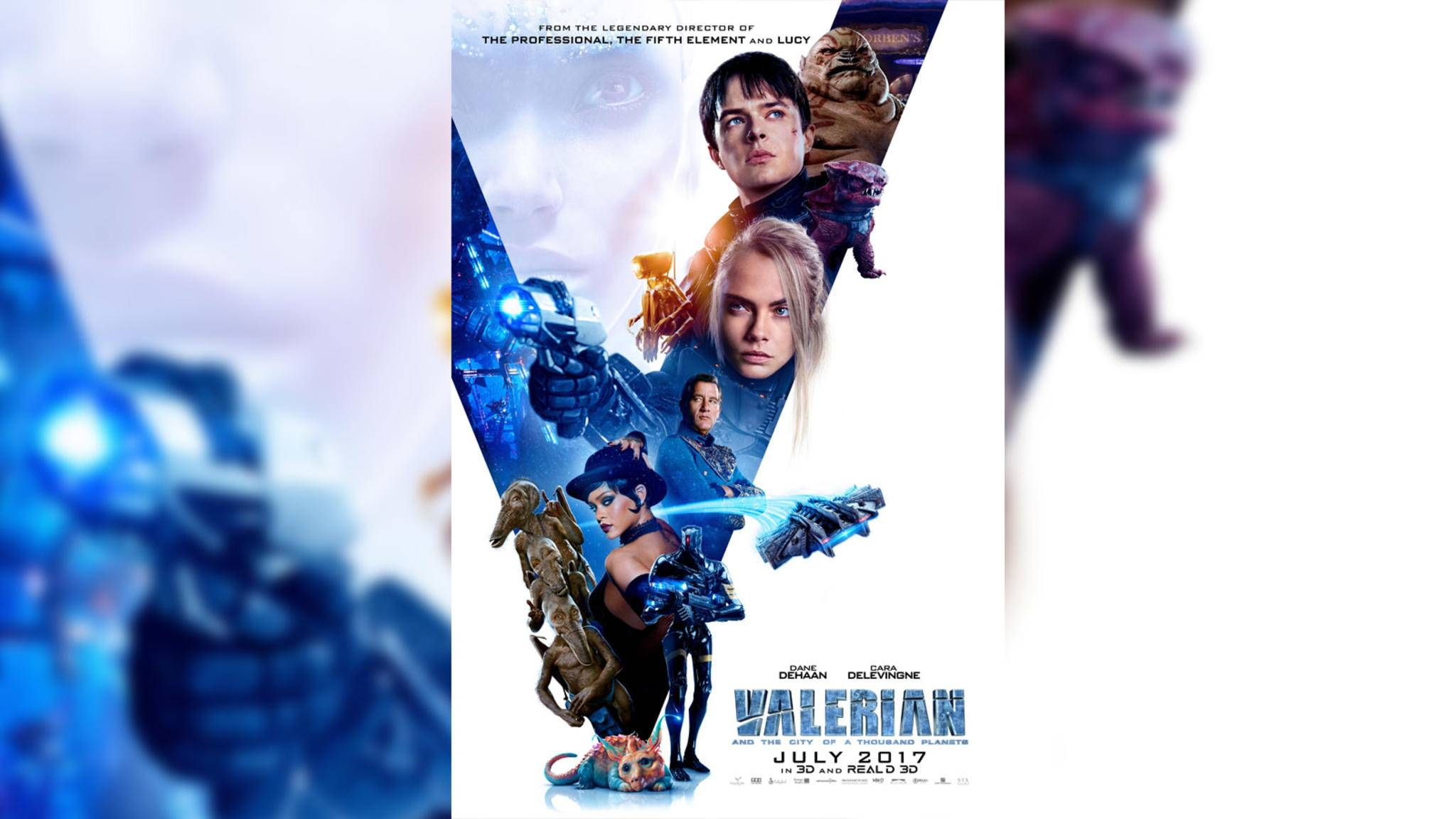 """Auf dem neuen Filmposter zu """"Valerian und die Stadt der tausend Planeten"""" gibt es einiges zu sehen."""