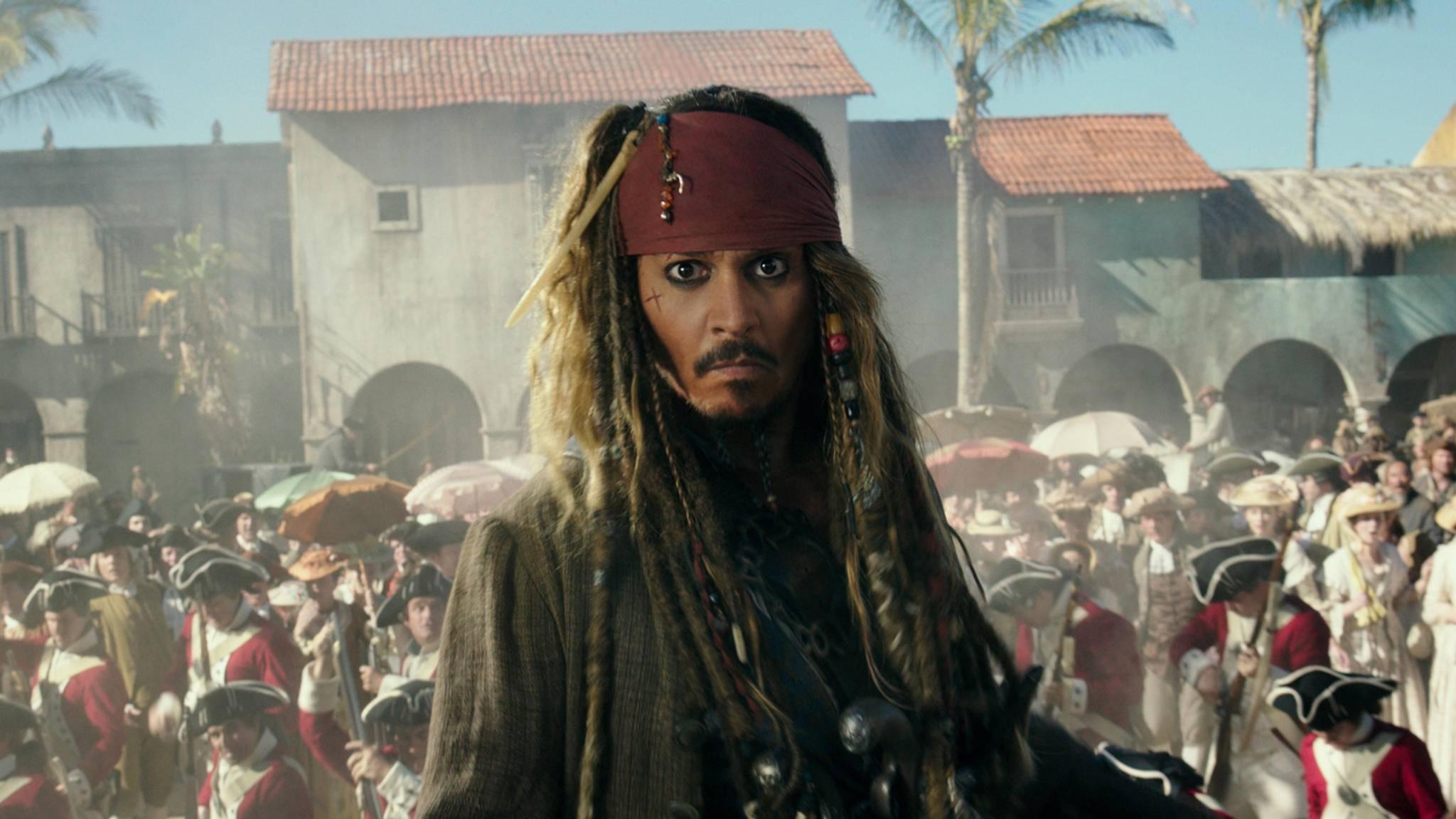 """Da vergeht selbst Jack Sparrow das Lachen: Disney wird mit seinem eigenen Film """"Fluch der Karibik 5"""" erpresst."""
