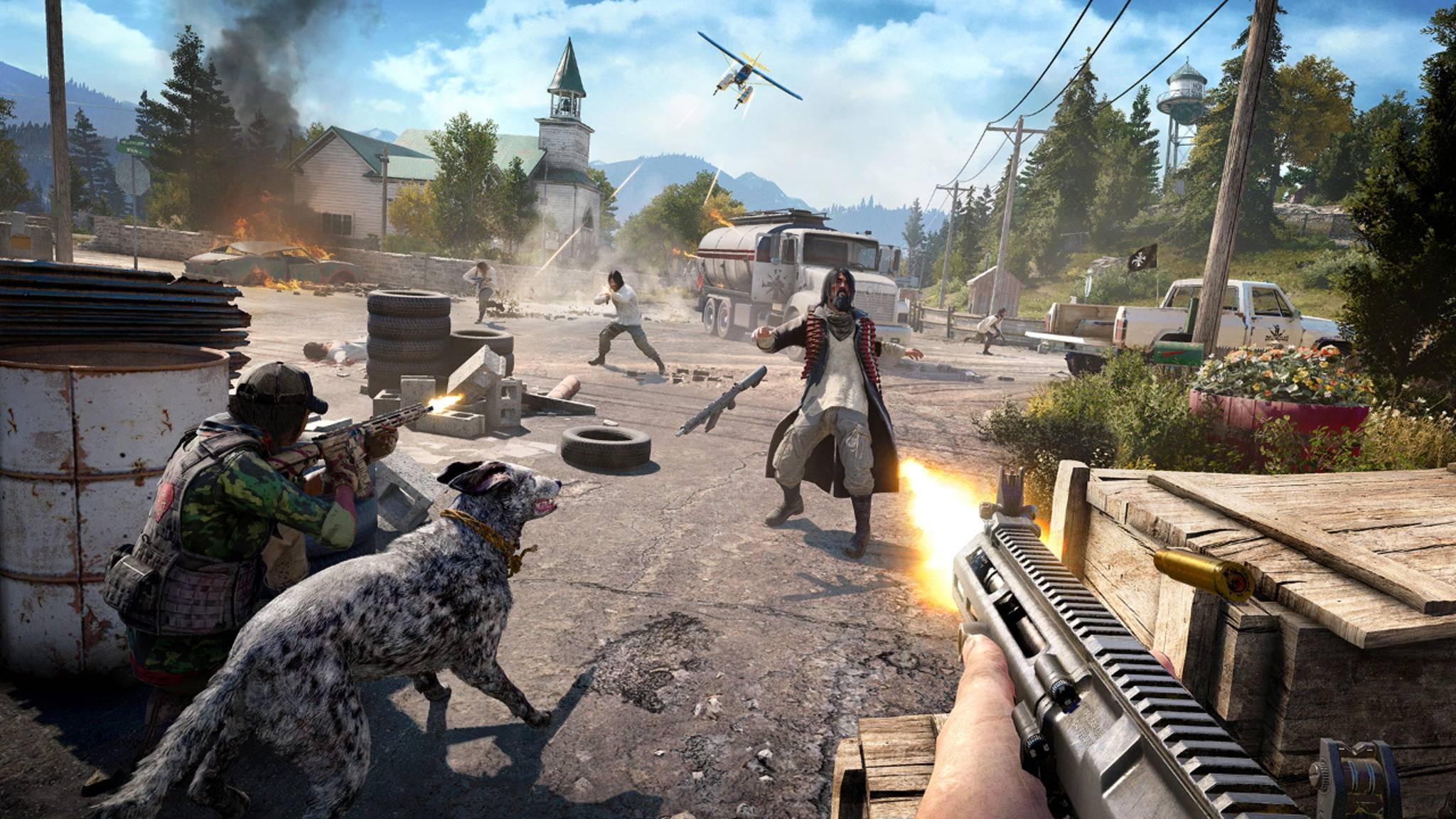 """Zu zweit gegen die finstere Sekte: In """"Far Cry 5"""" wird es einen Online-Koop-Modus für die gesamte Kampagne geben."""