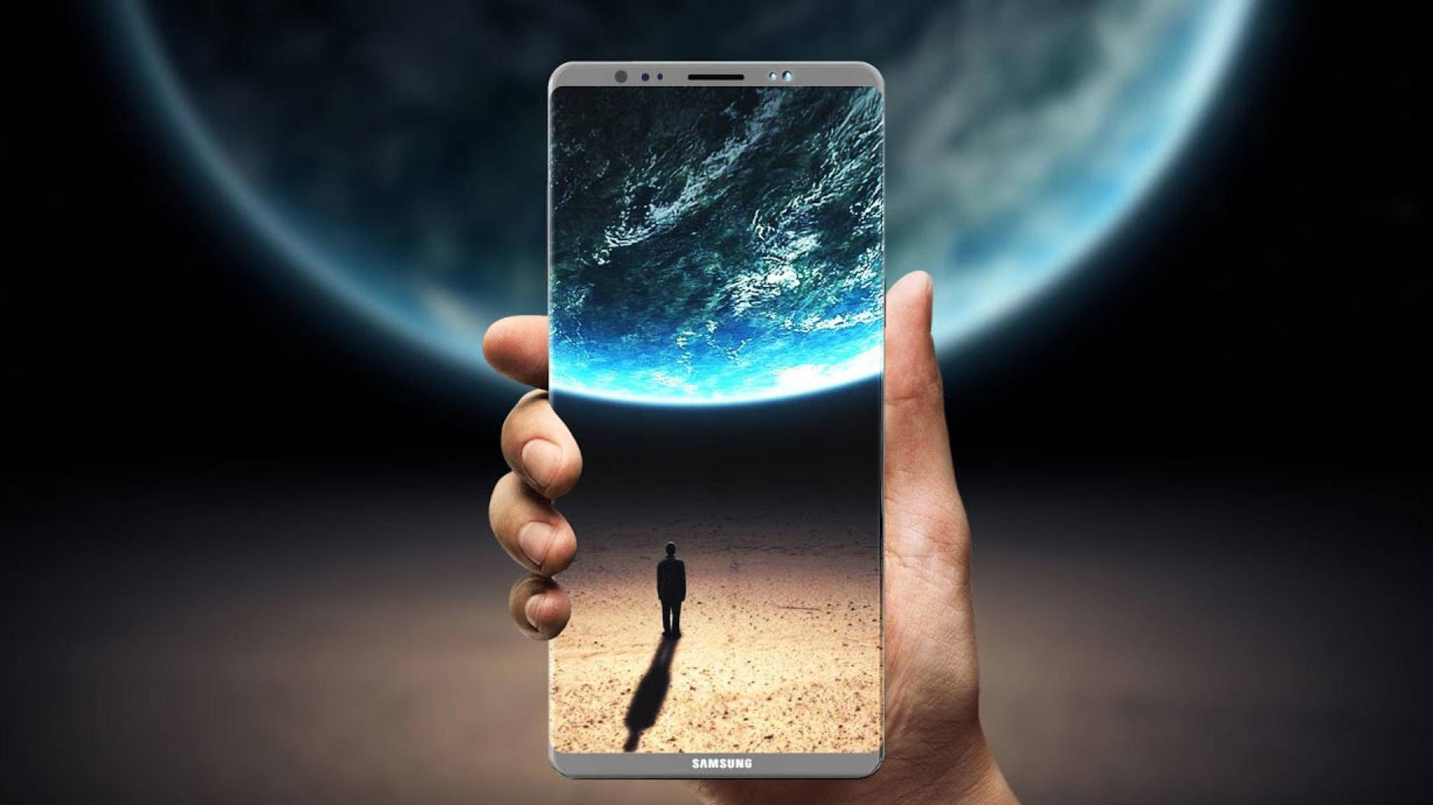 Das Galaxy Note 8 soll keinen Fingerabdrucksensor unter dem Display haben.