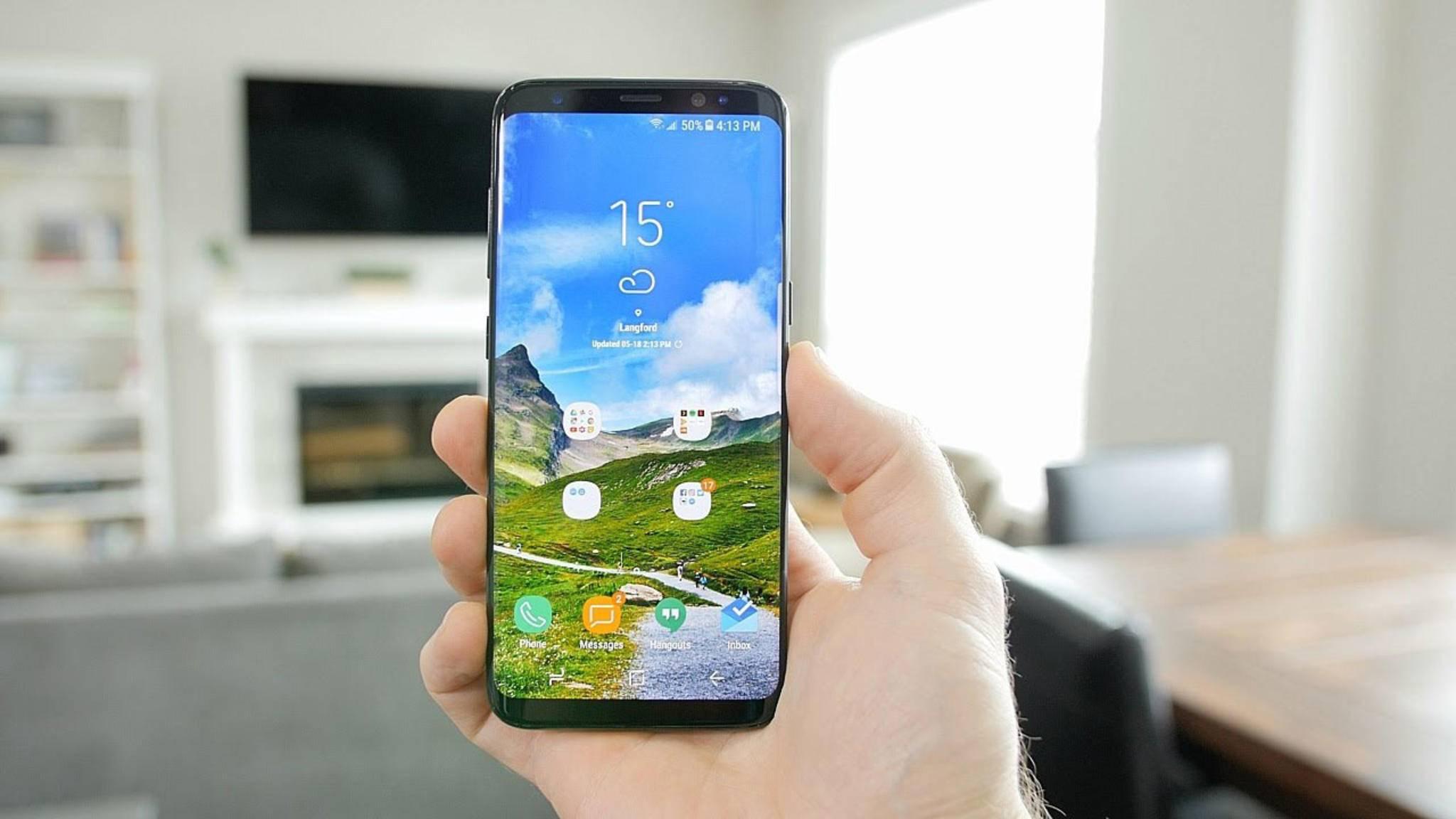 Eine neue Android-Version steht für das Samsung Galaxy S8 bereit.