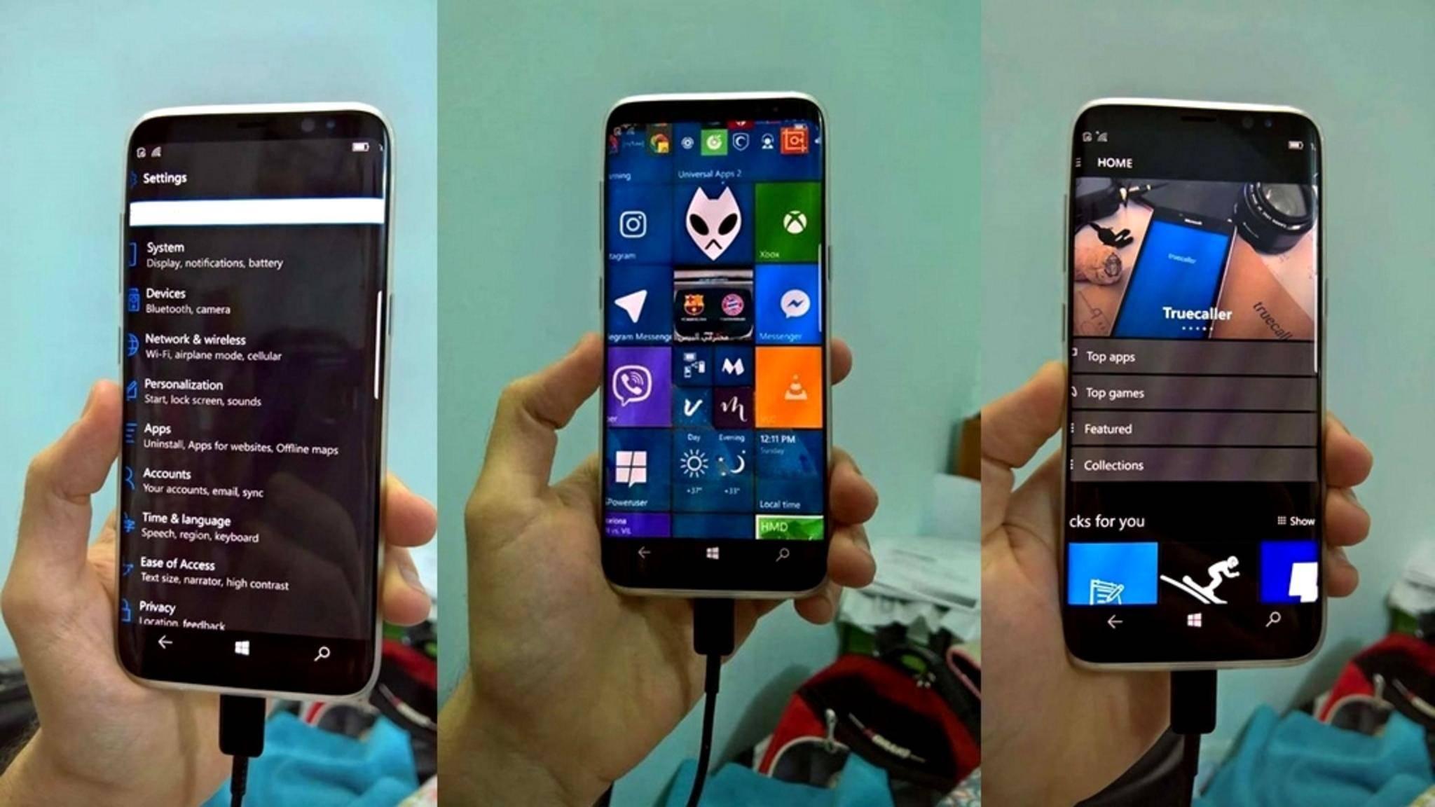 Windows 10 Mobile auf dem Galaxy S8? Leider nicht!