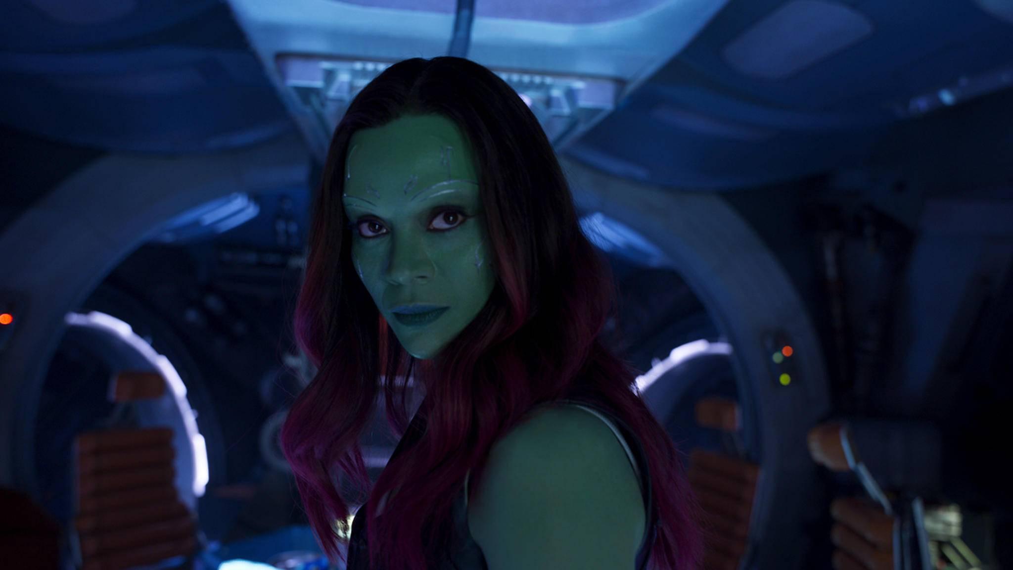 """Gamora trifft in """"Avengers: Infinity War"""" auf ihren Adoptivvater."""