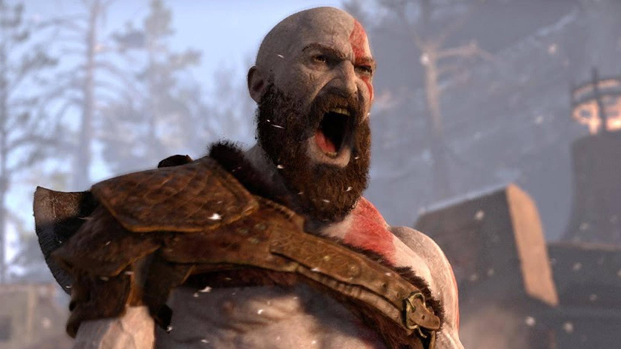 """Schlechte Laune ist sein Markenzeichen: Kratos aus """"God of War""""."""