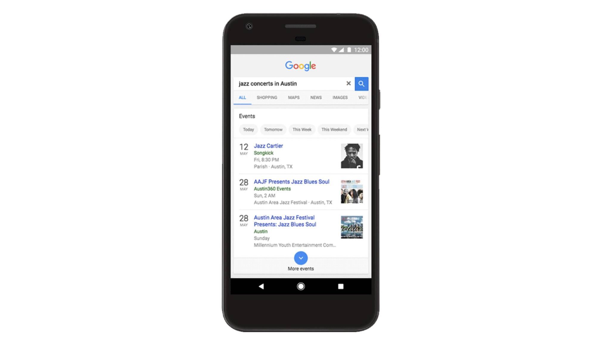 Die Google-App und die mobile Websuche schlagen Dir künftig Events in der Nähe vor.