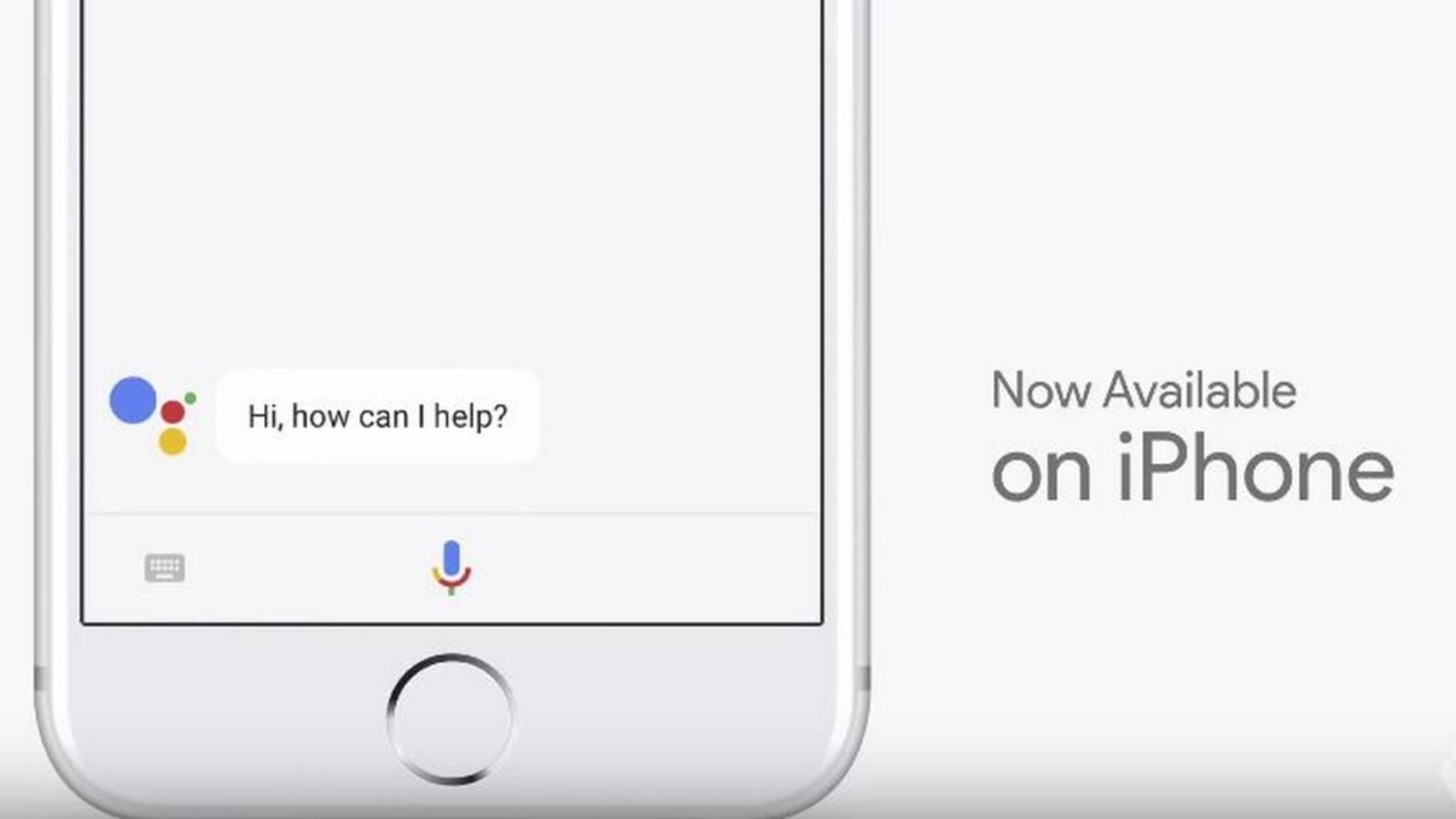 Der Google Assistant kommt also tatsächlich auf das iPhone.