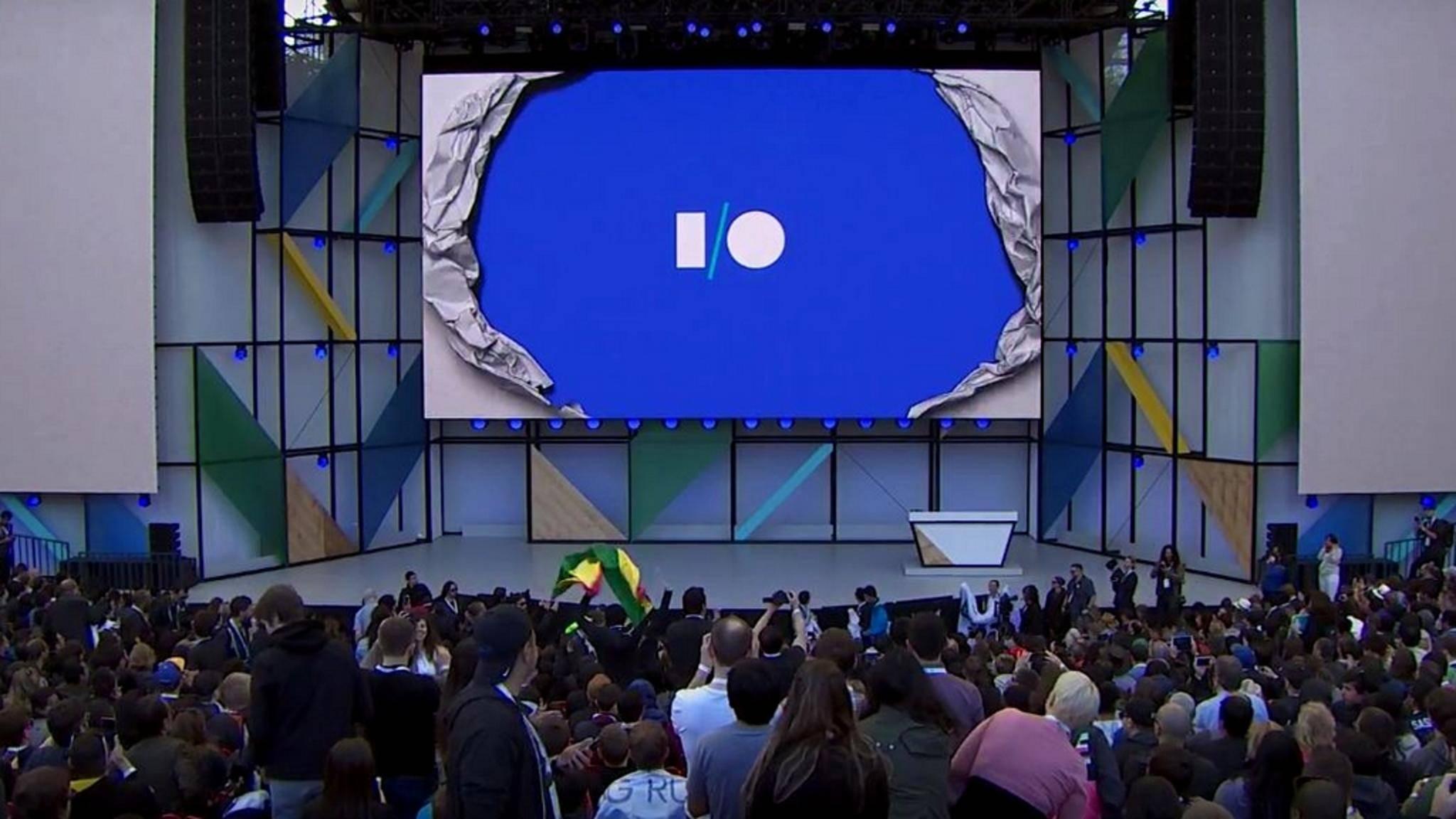 Die Google I/O startet.