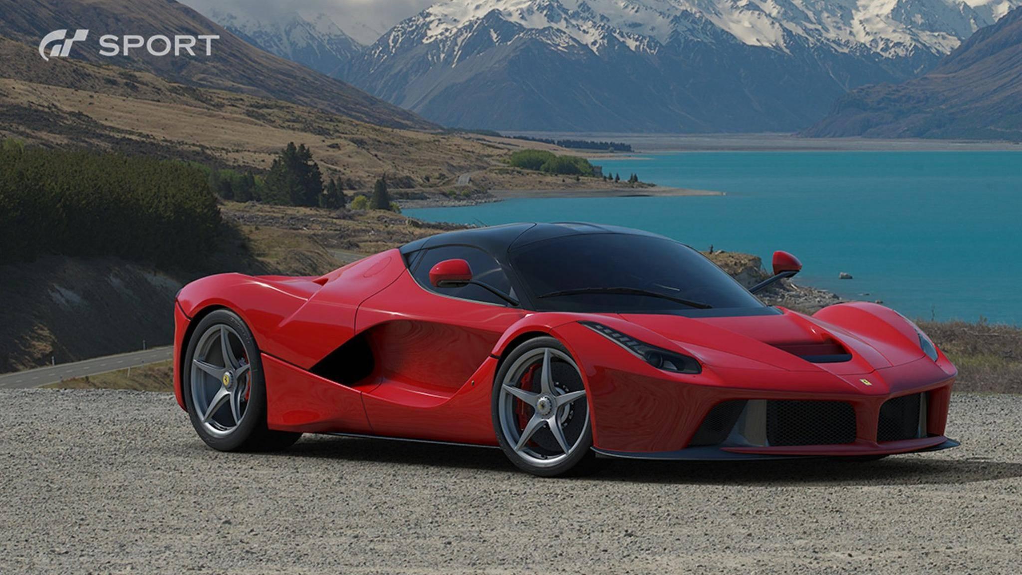 """Dieser Ferrari ist nur eines von über 150 Fahrzeugen, die in """"Gran Turismo Sport"""" auf die Strecke geschickt werden dürfen."""