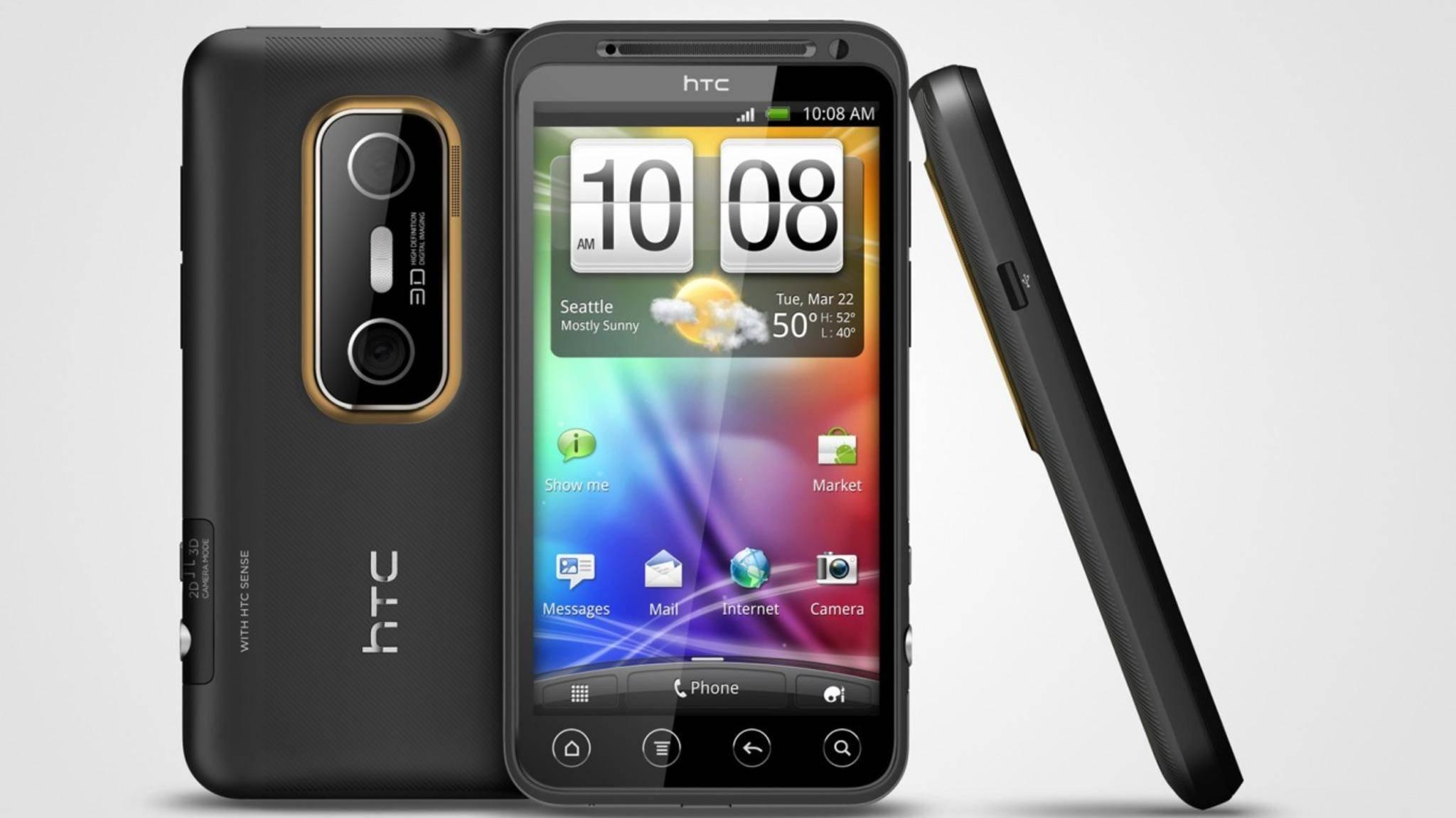 Das HTC Evo 3D war im Jahr 2011 mit Dual-Kamera und 3D-Display eine echte Innovationsbombe.