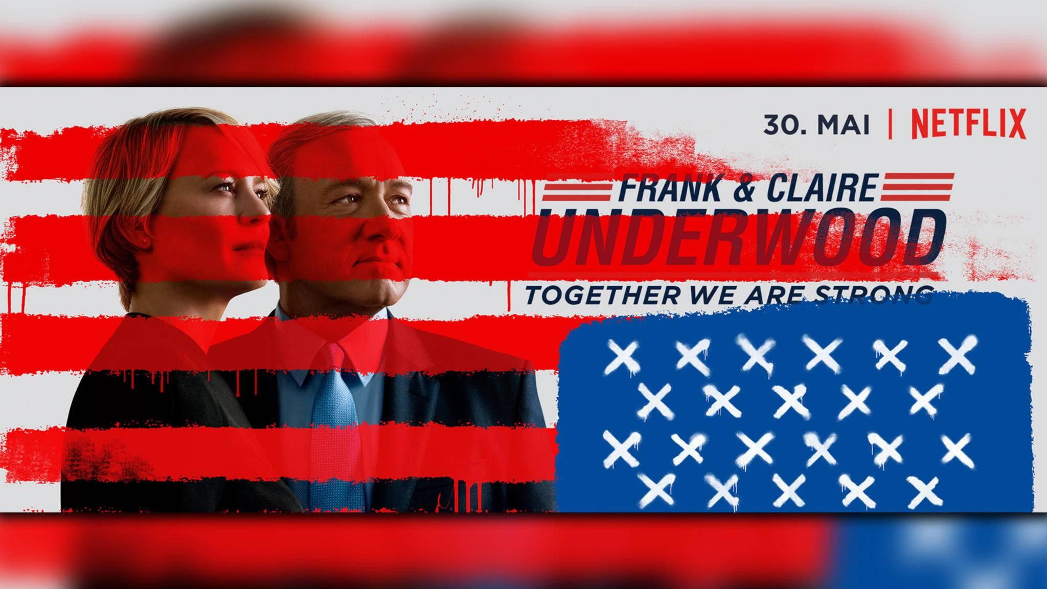 """Am 30. Mai startet in den USA die fünfte """"House of Cards""""-Staffel."""