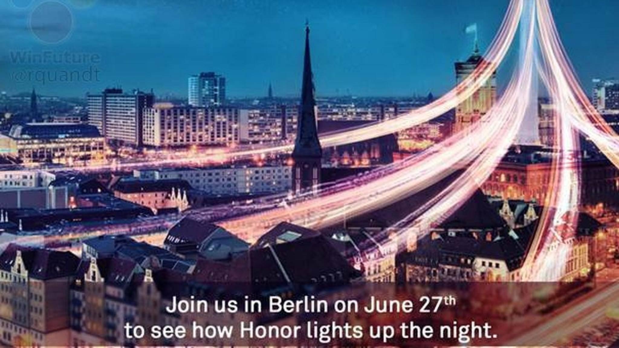 Wird Honor am 27. Juni in Berlin das Honor 9 mit Flaggschiff-Ambitionen vorstellen?