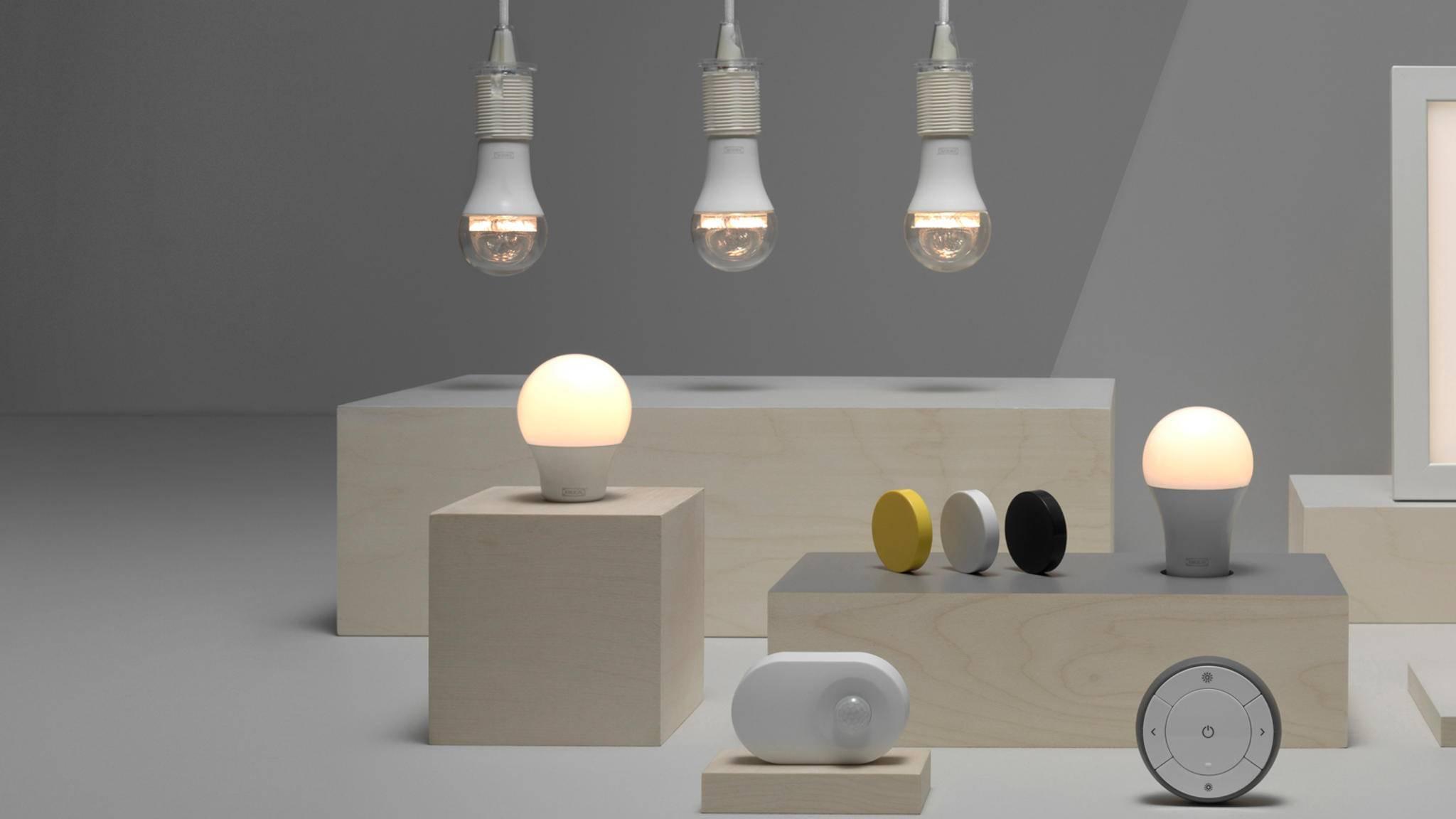 Die smarte Beleuchtung von IKEA ist bald auch mit der Smart-Home-Technik von Google, Apple und Amazon kompatibel.