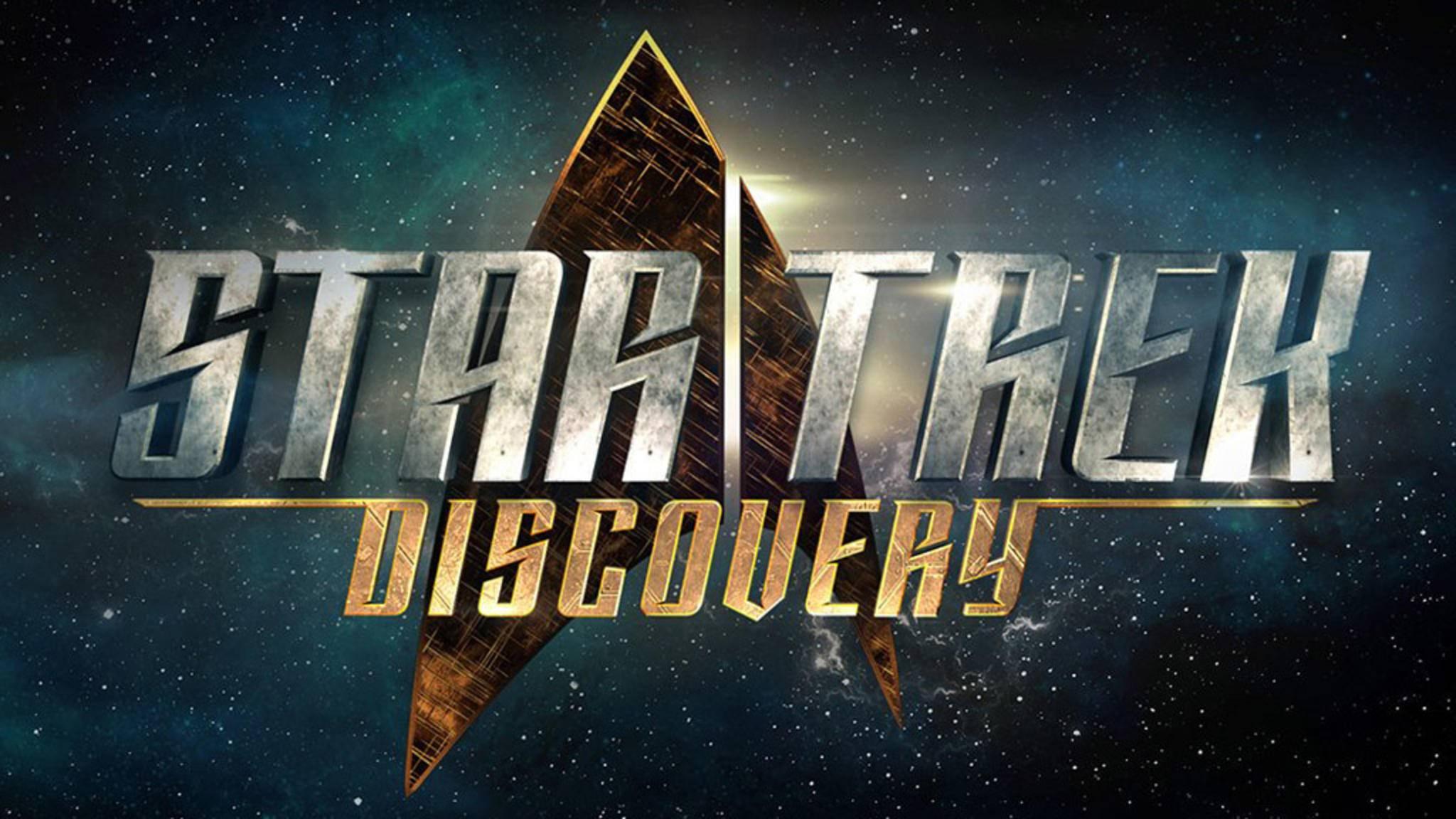 """Auch das Logo der neuen Serie """"Star Trek: Discovery"""" zeigt das Symbol der Sternenflotte: eine stilisierte Pfeilspitze."""