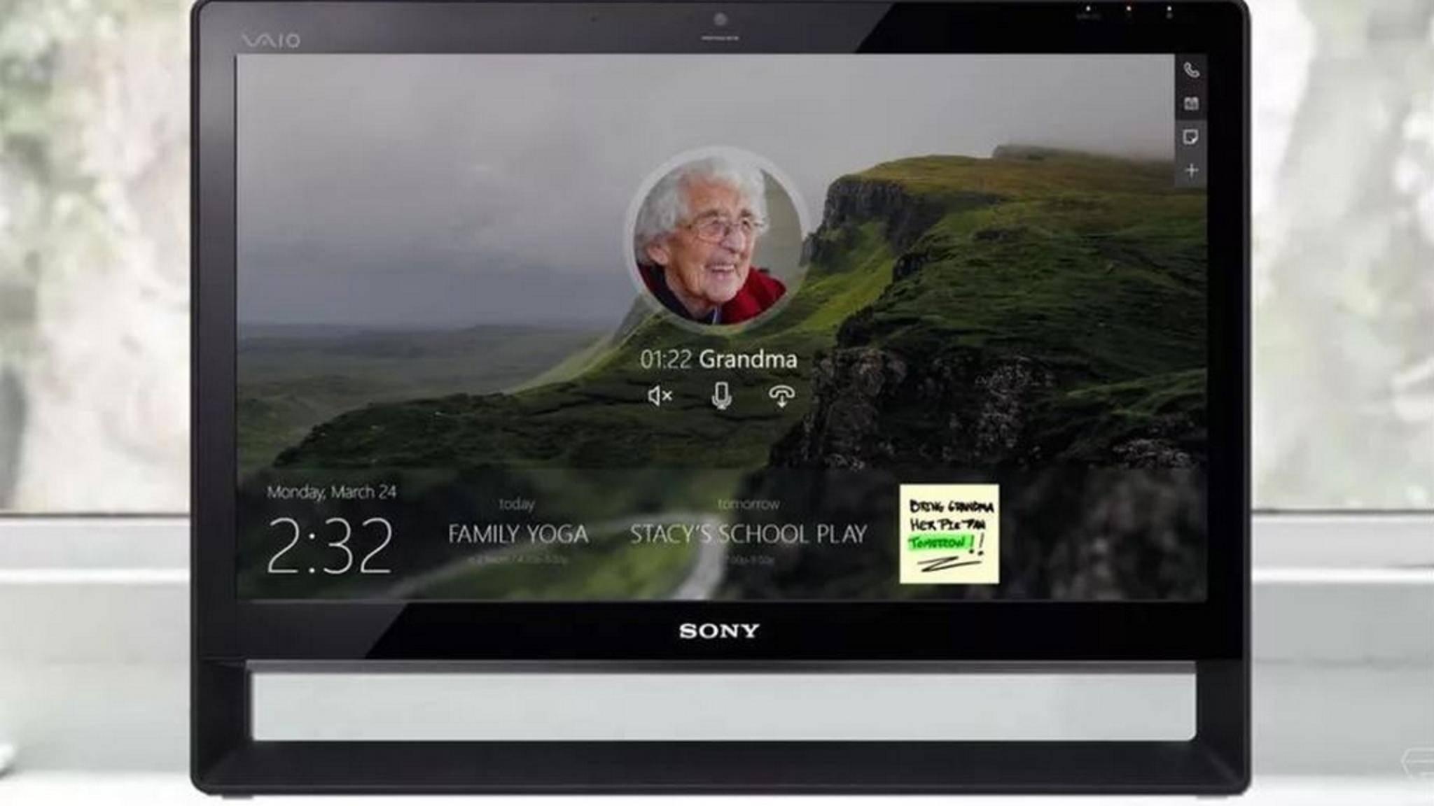 So könnte ein Gerät mit Microsoft Home Hub aussehen.