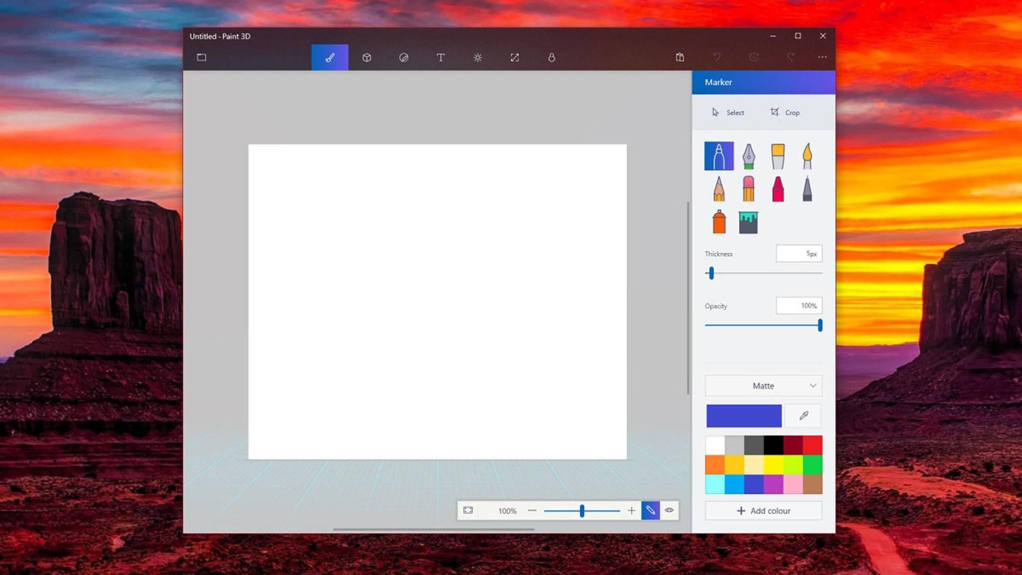 Transparenter Look für Paint 3D: Das noch nicht einmal offiziell angekündigte Project-Neon-Design erreicht Paint 3D – und immer mehr andere Apps.