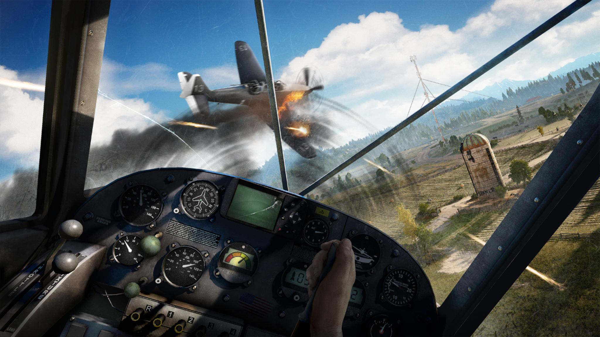 """Flugzeuge lassen sich in """"Far Cry 5"""" effektiv einsetzen."""