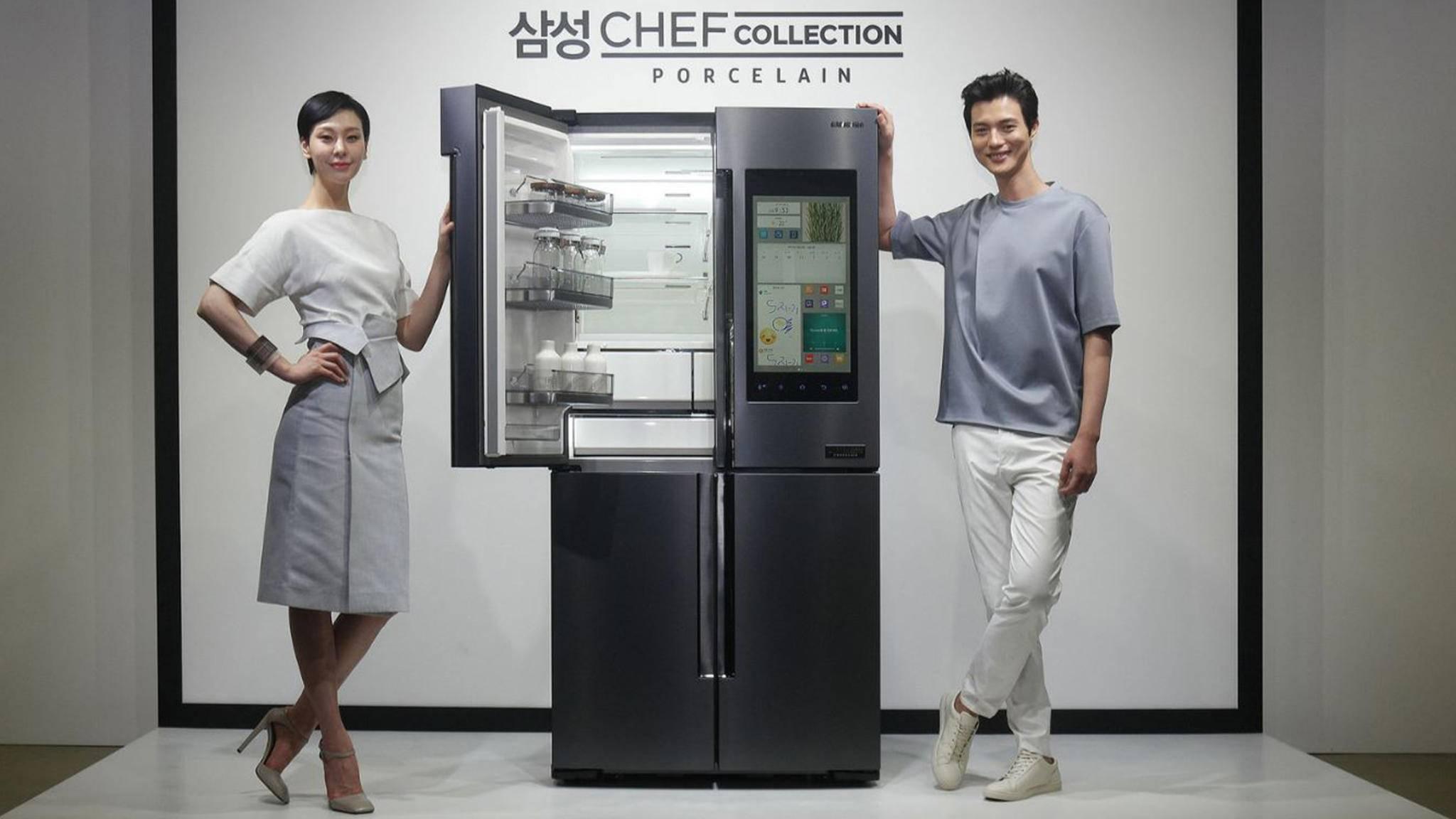 Kühlschrank Xl : Samsung neuer high end kühlschrank ist teilweise aus porzellan