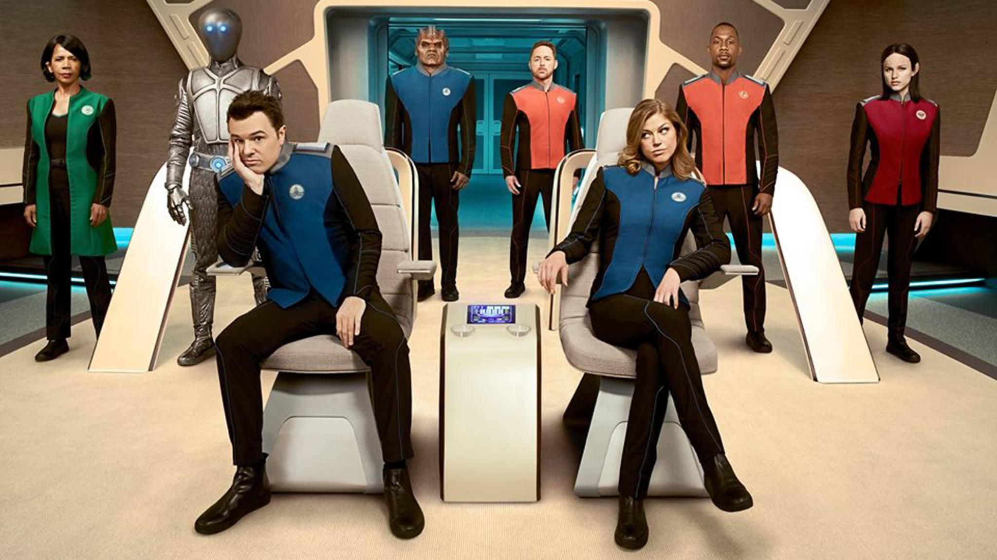 """Warum so lange Gesichter? Seth MacFarlanes Serie """"The Orville"""" wurde um Staffel 2 verlängert."""
