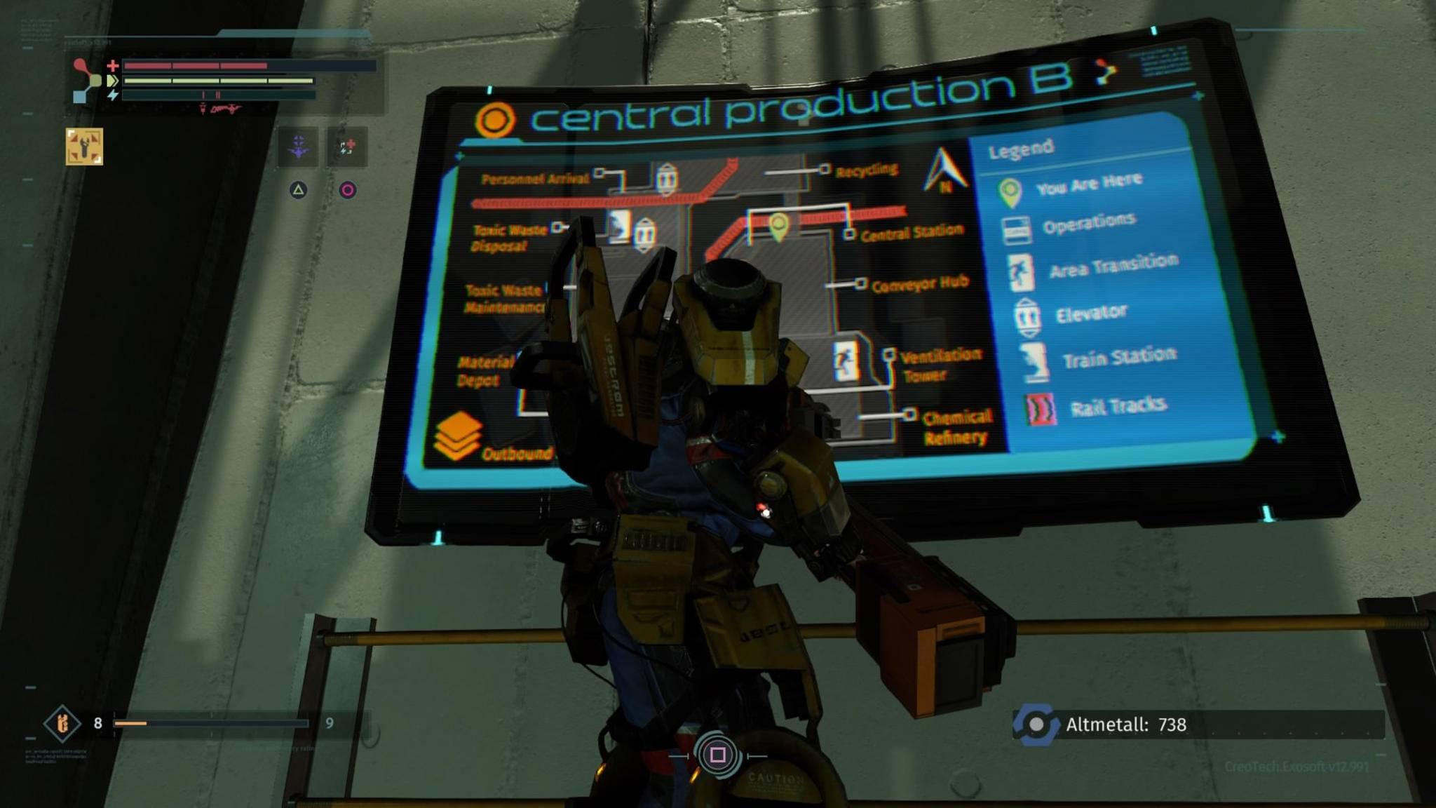 Eine Map der Level gibt es höchstens im Vorbeilaufen zu sehen. Das Menü bietet die Option bewusst nicht an.