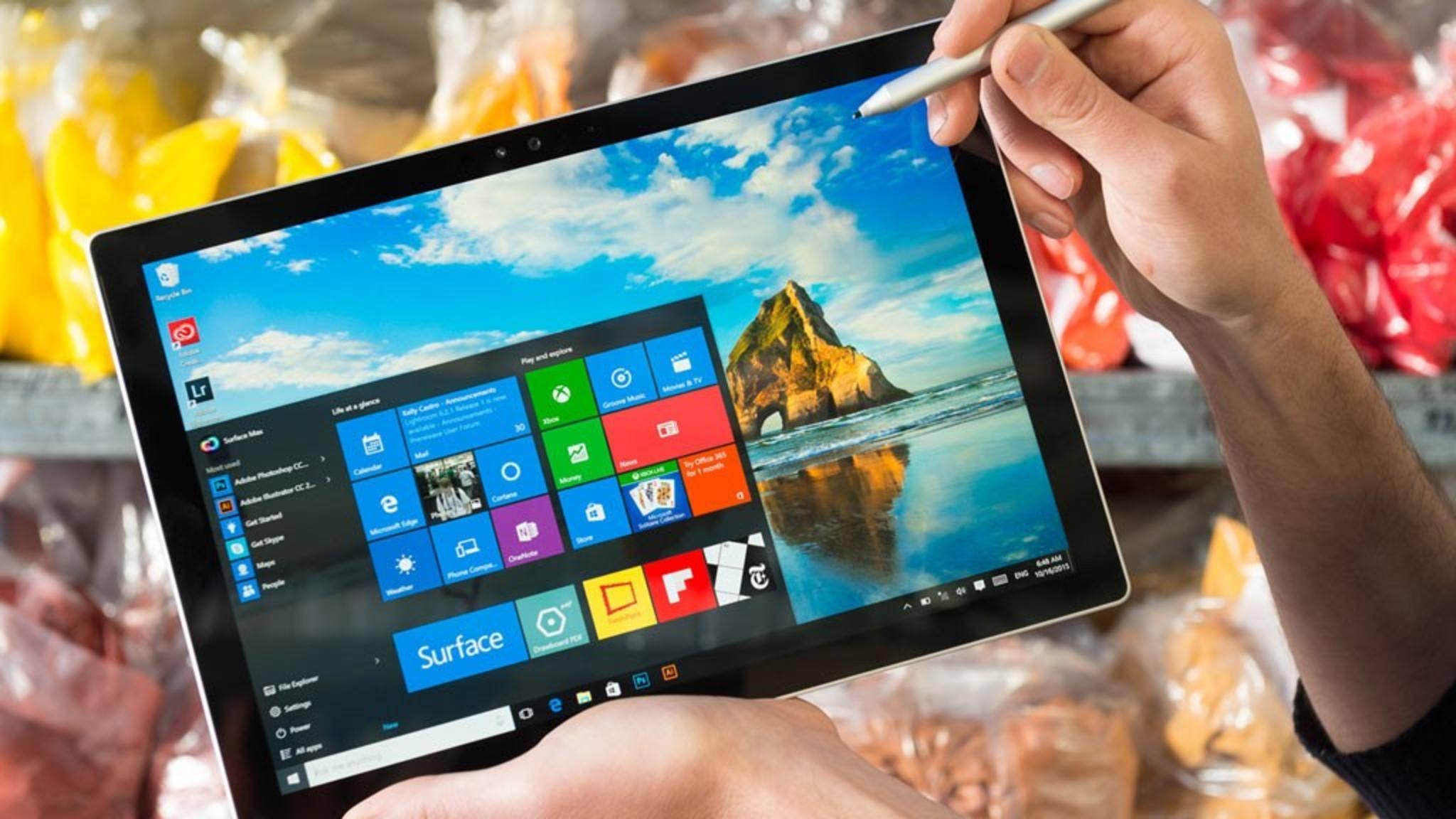 Vor allem Tablet-Nutzer mit Windows 10 sollten auf ihren Speicherplatz achten.